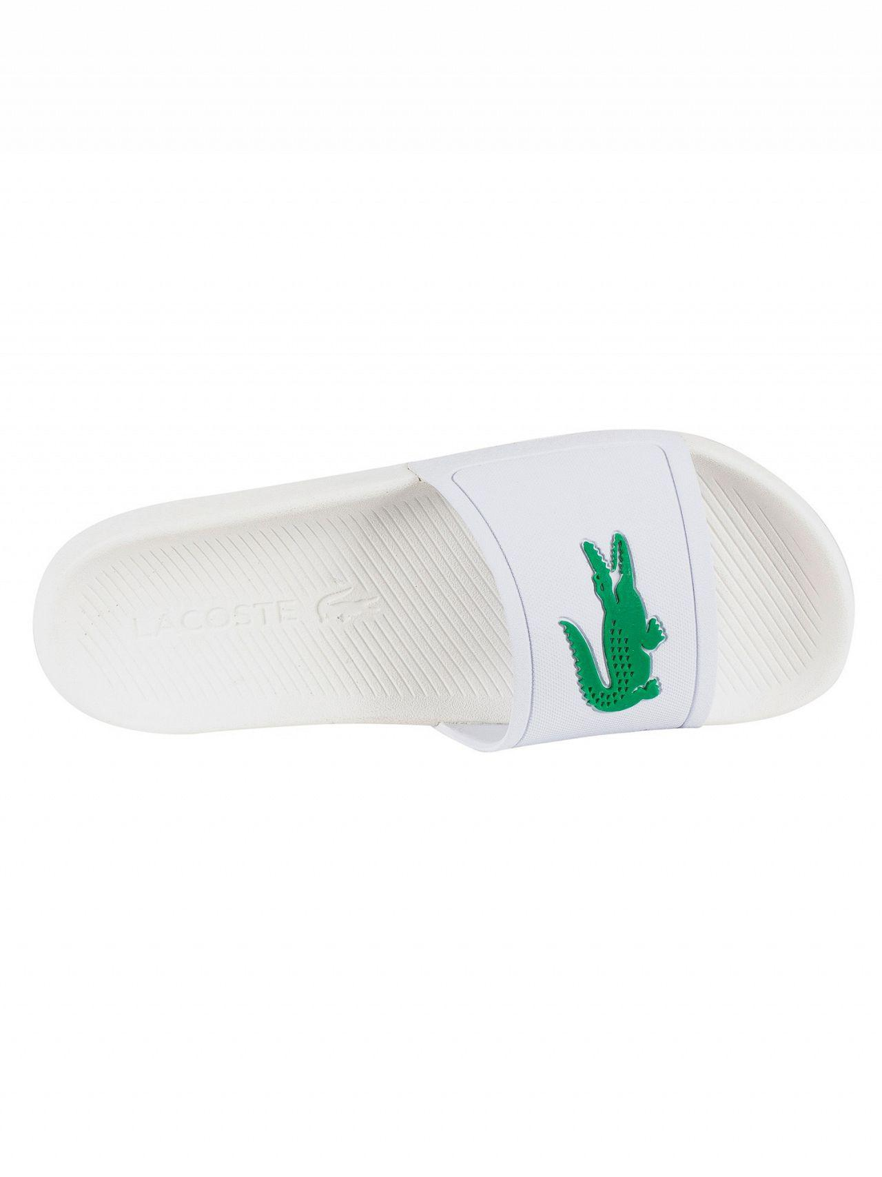 715b2d972195 Lacoste Croco Slide 119 1 Sandals in White for Men - Save 20% - Lyst
