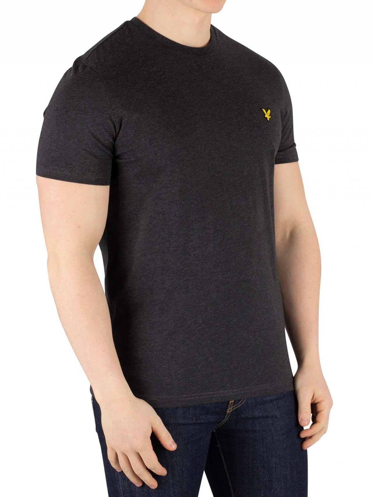b5ca2cc1c Lyst - Lyle & Scott Charcoal Marl Crew Neck T-shirt in Gray for Men