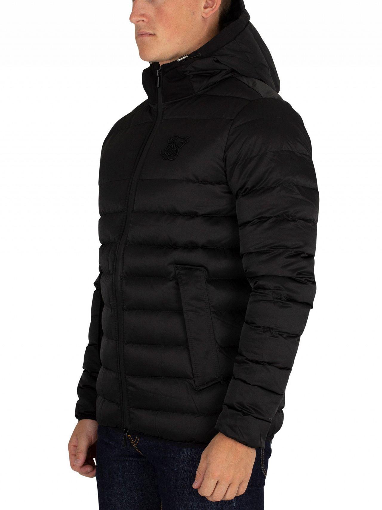 Sik Silk Men s Target Jacket, Black Men s Jacket In Black in Black ... 49abd81020