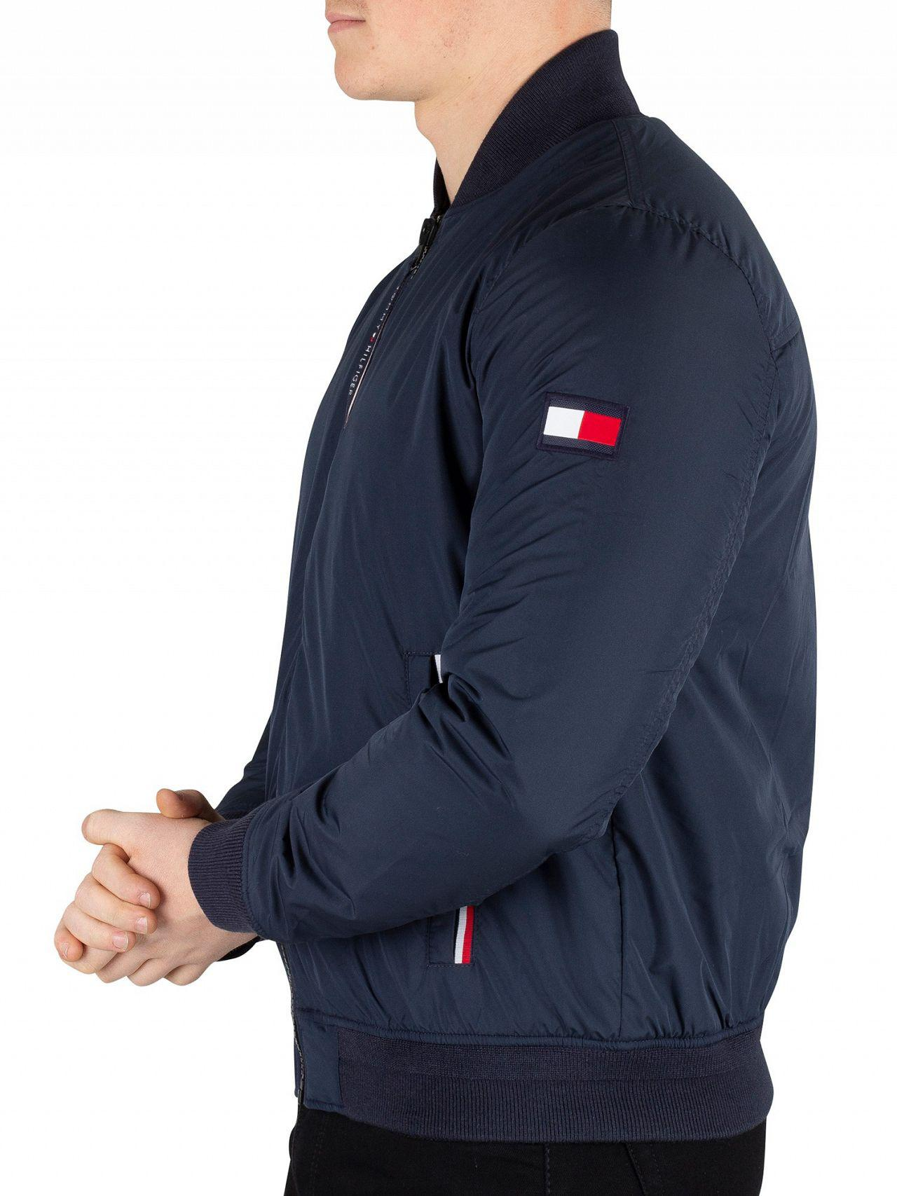 a3c811ebd99b Tommy Hilfiger - Blue Sky Captain Padded Bomber Jacket for Men - Lyst. View  fullscreen