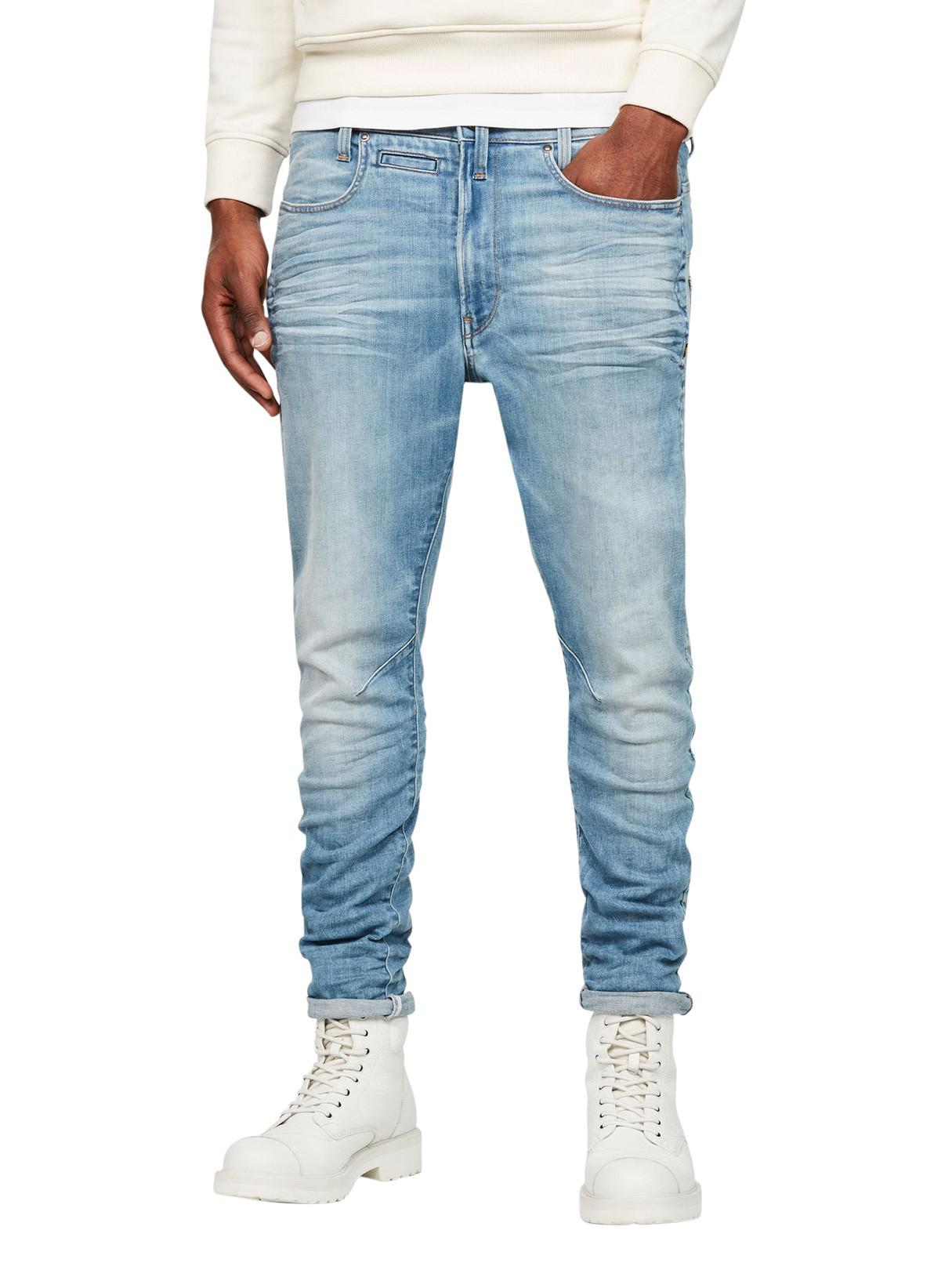 9e9e38cf6139 Lyst - G-Star RAW Light Indigo Aged D- Staq 3d Super Slim Jeans in ...