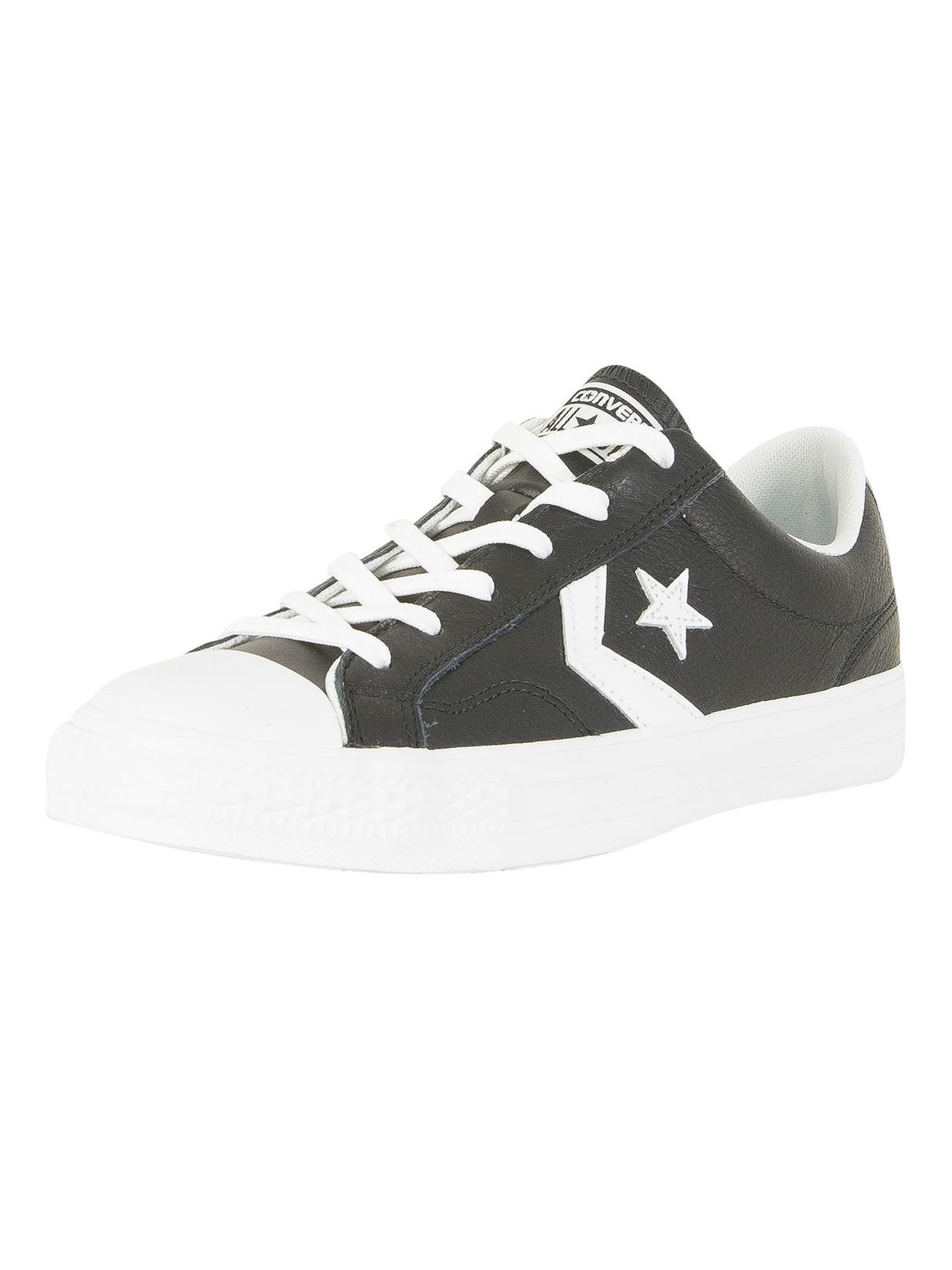 d34b5ac7610701 Converse Black white Star Player Ox Trainers in Black for Men - Lyst
