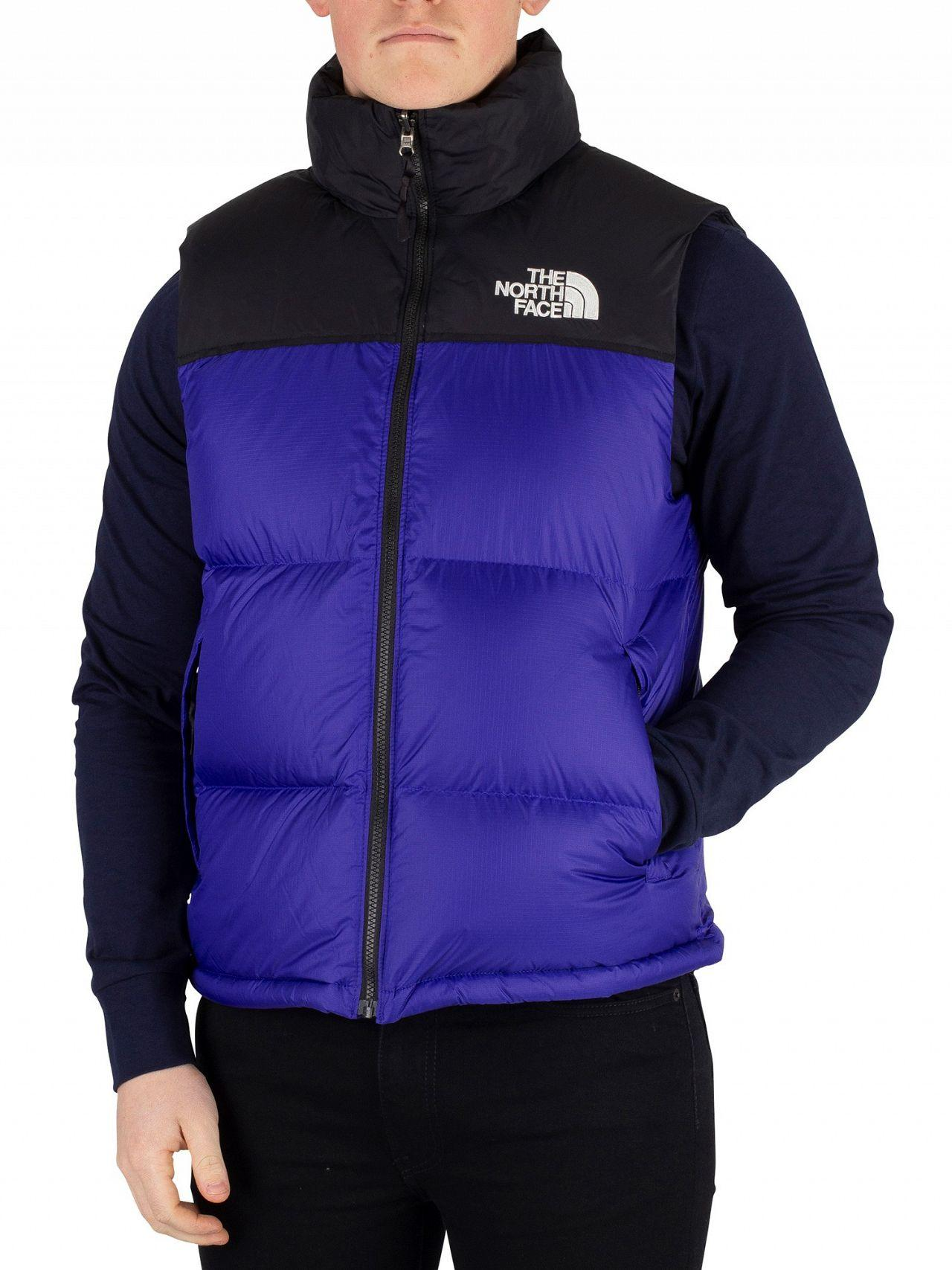 b05691c10 Lyst - The North Face Aztec Blue 1996 Retro Nuptse Gilet in Blue for Men
