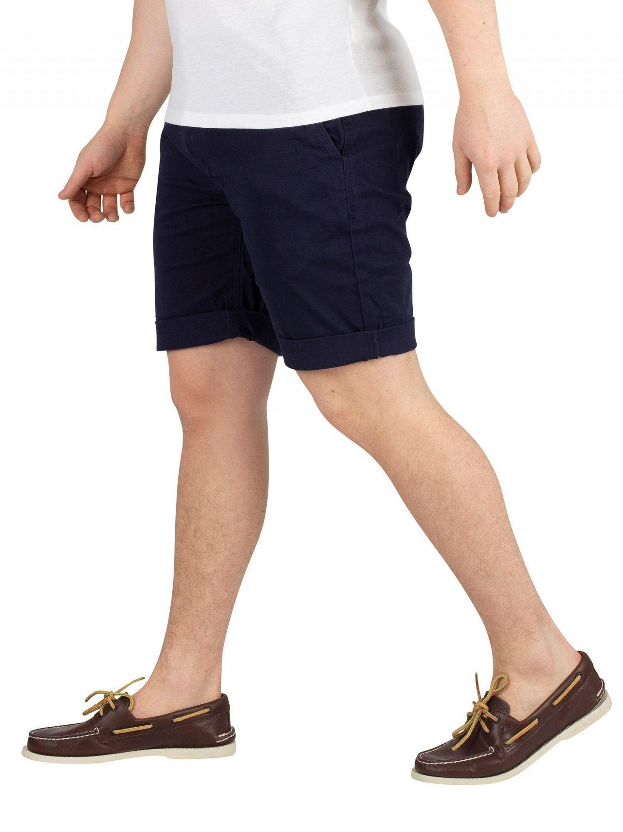 4d3389ea Tommy Hilfiger Black Iris Navy Essential Chino Shorts in Black for Men -  Lyst