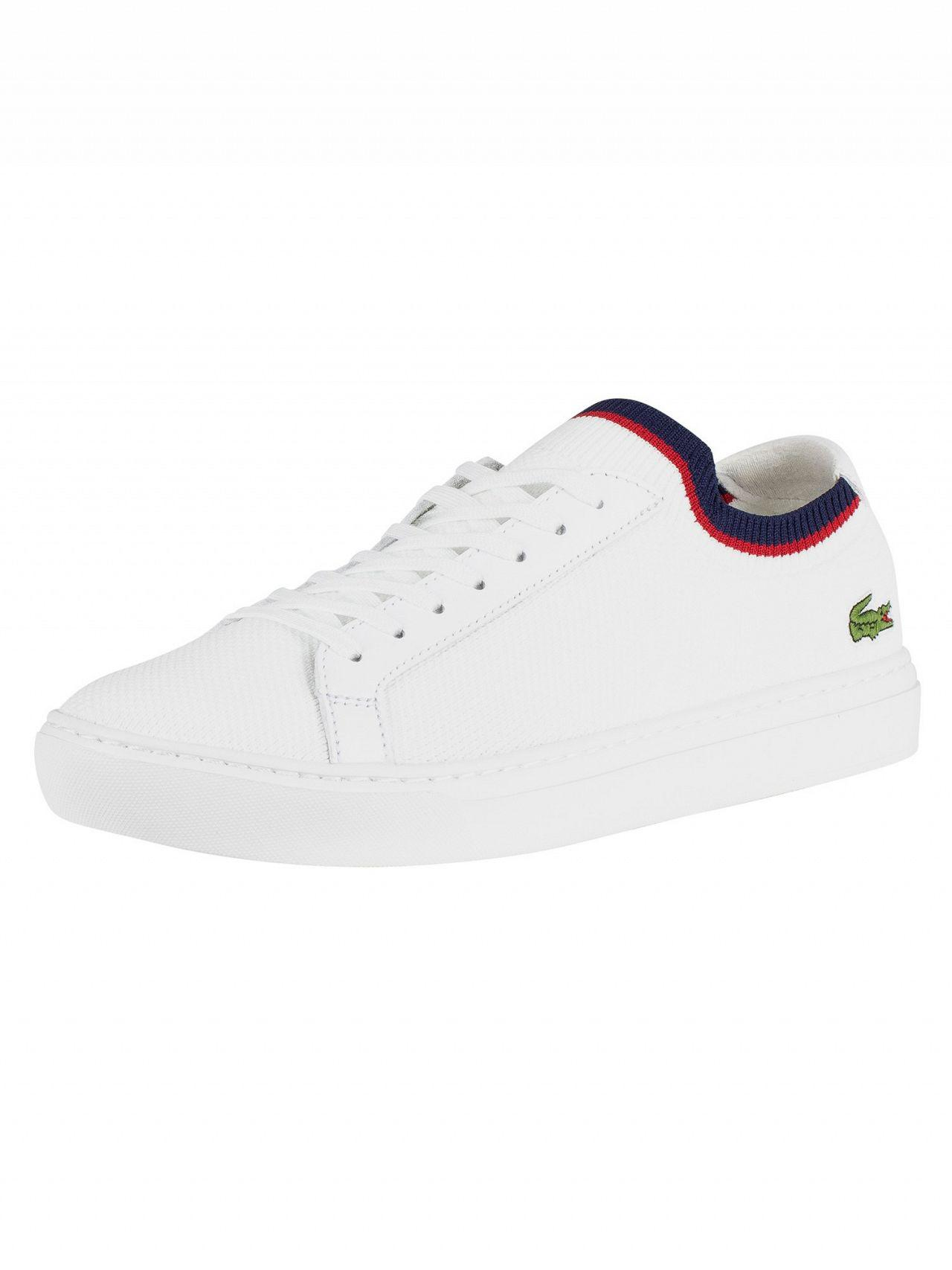 45f2ef21d290e0 Lacoste La Piquée 119 1 Knitted Cupsole Trainers in White for Men ...