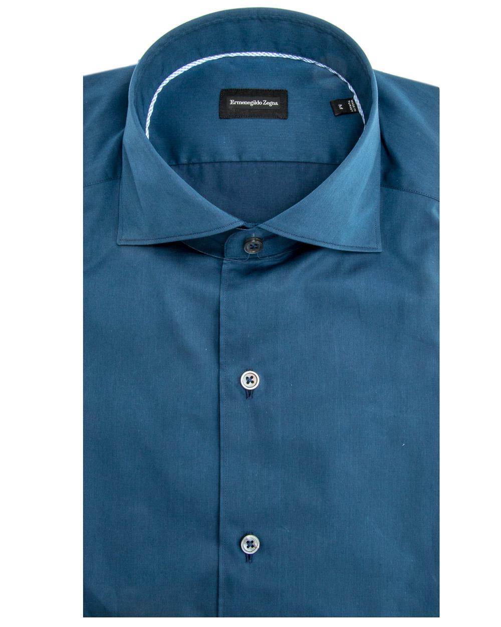 Lyst Ermenegildo Zegna Midnight Blue Dress Shirt In Blue For Men