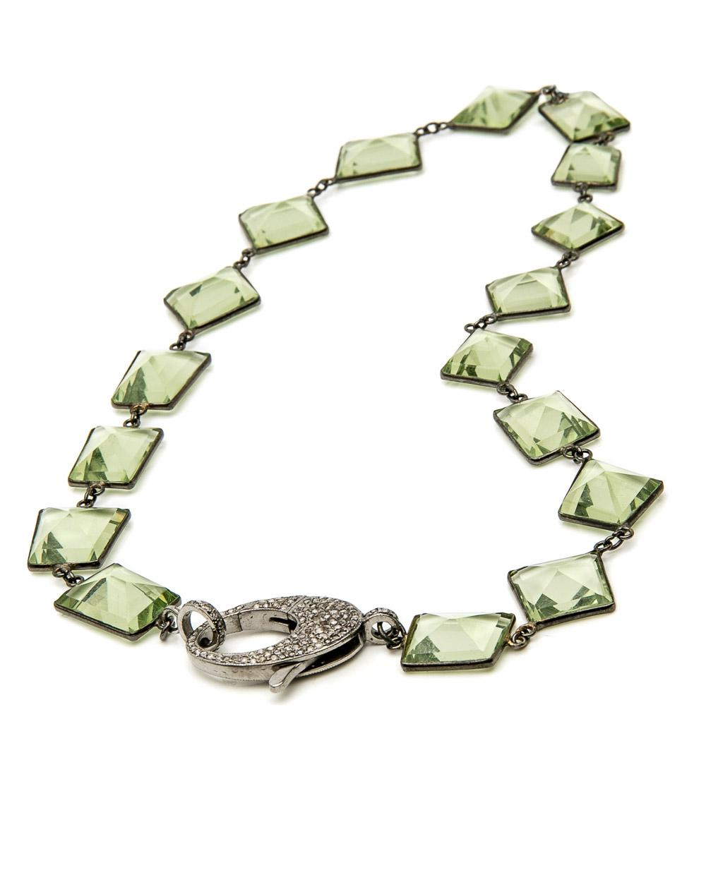 Lyst - Hannah Ferguson Green Quartz Wire Wrap Necklace in Green