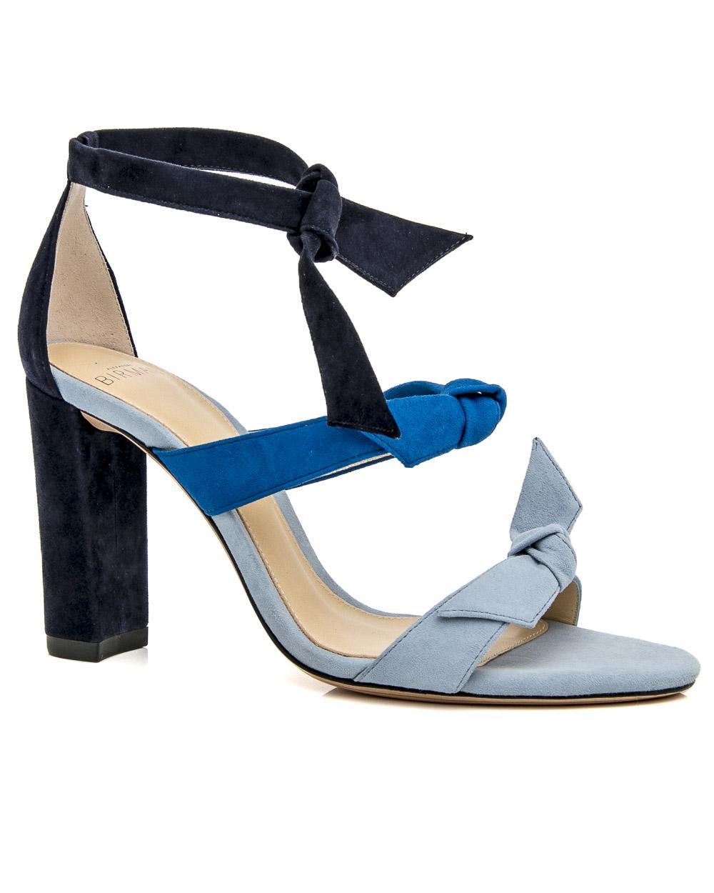 fcdcda0d2a74 Lyst - Alexandre Birman Lolita Suede Block Heel Sandal in Blue