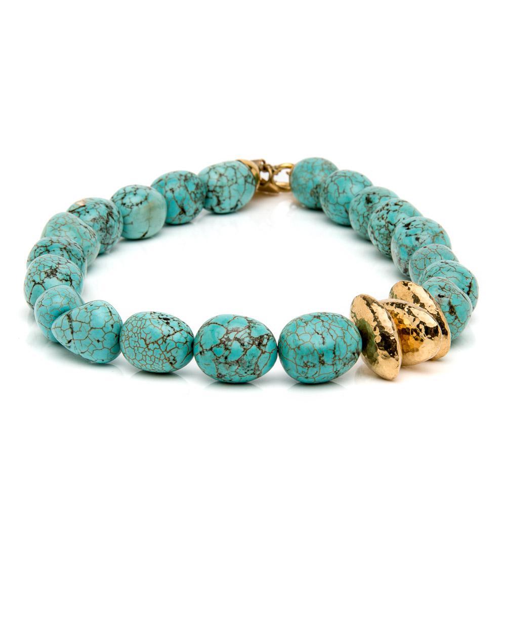 Ashley Pittman Yai Turquoise Necklace yAk7mhF
