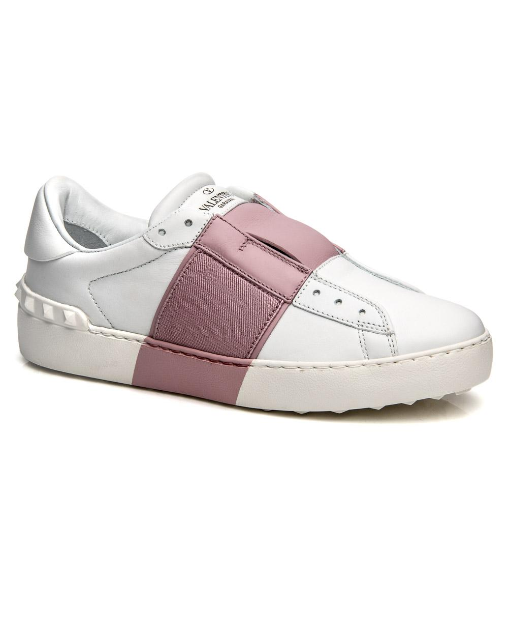 Lyst - Valentino Pink Elastic Band Sneaker in Pink