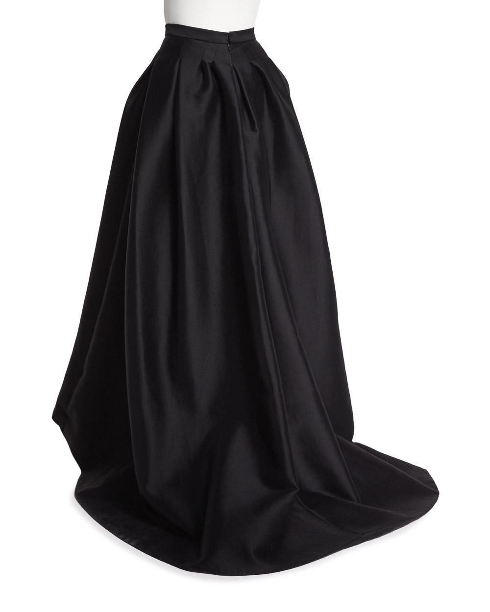 Lyst Carolina Herrera High Low Ball Skirt Black In Black