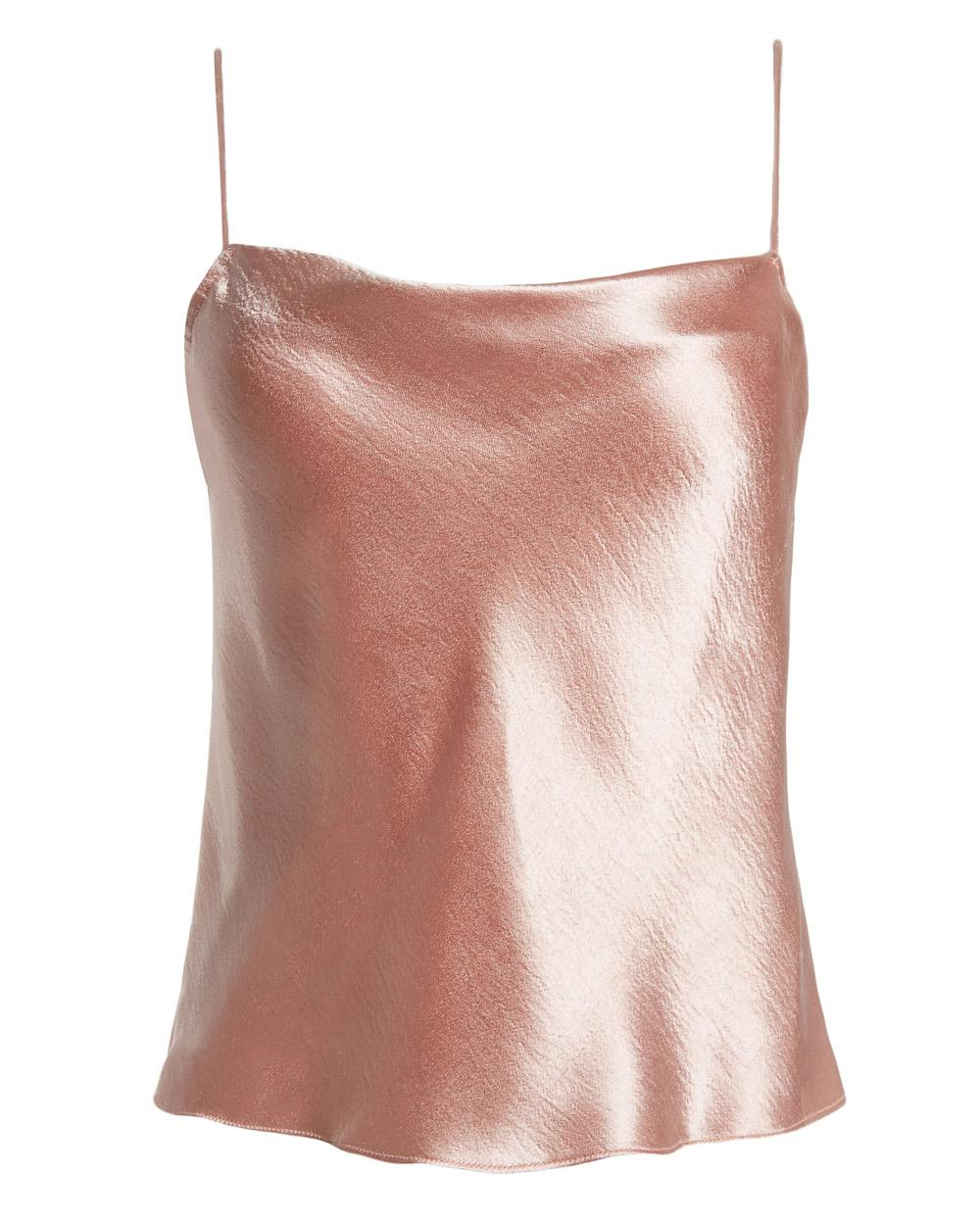 ee6f25fc79e5 Alice + Olivia Blush Harmon Drapey Slip Tank in Pink - Lyst