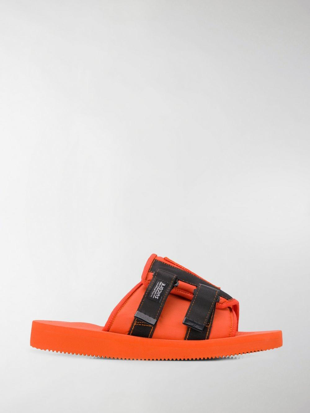 f804ffe6eca9 Lyst - Palm Angels Suicoke Patch Slider Sandals in Orange for Men ...