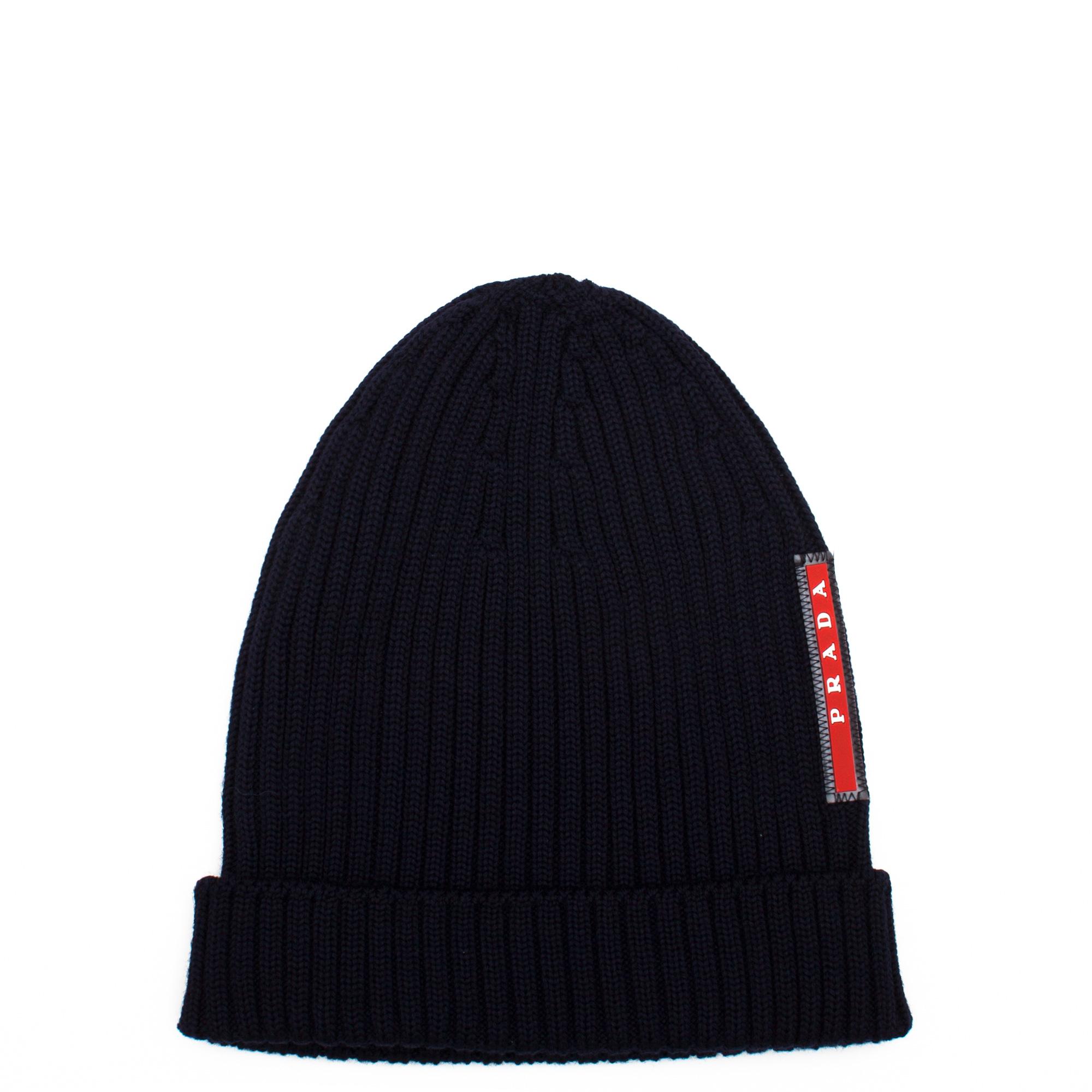 rabbit knitted hat - Black Prada 9K49yWqPvz