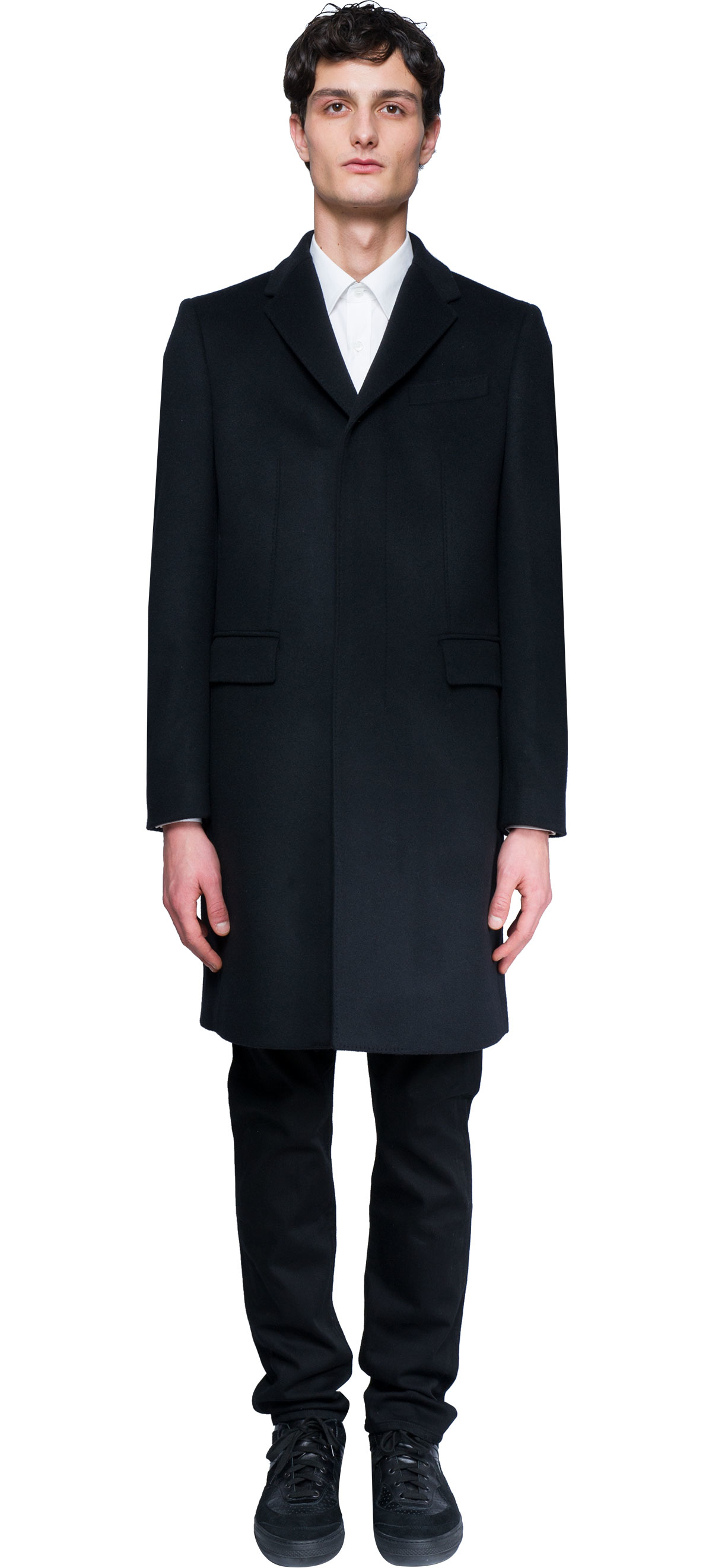 Burberry Wool And Cashmere Coat in Black for Men