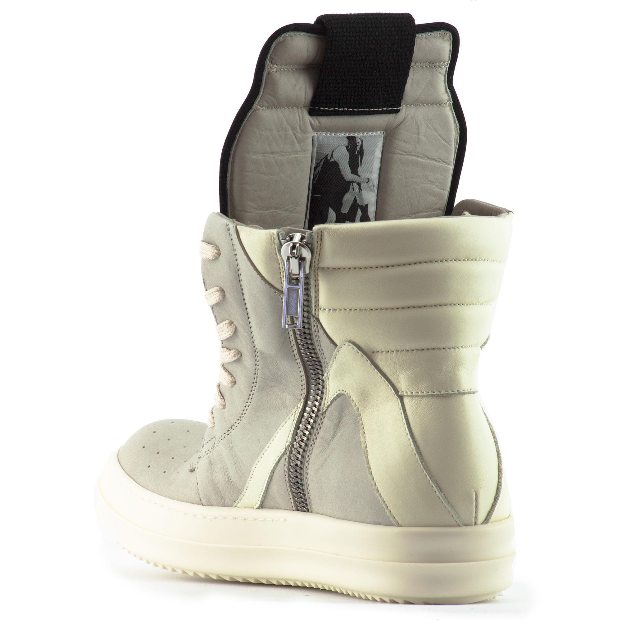 lyst rick owens geobasket leather sneakers. Black Bedroom Furniture Sets. Home Design Ideas