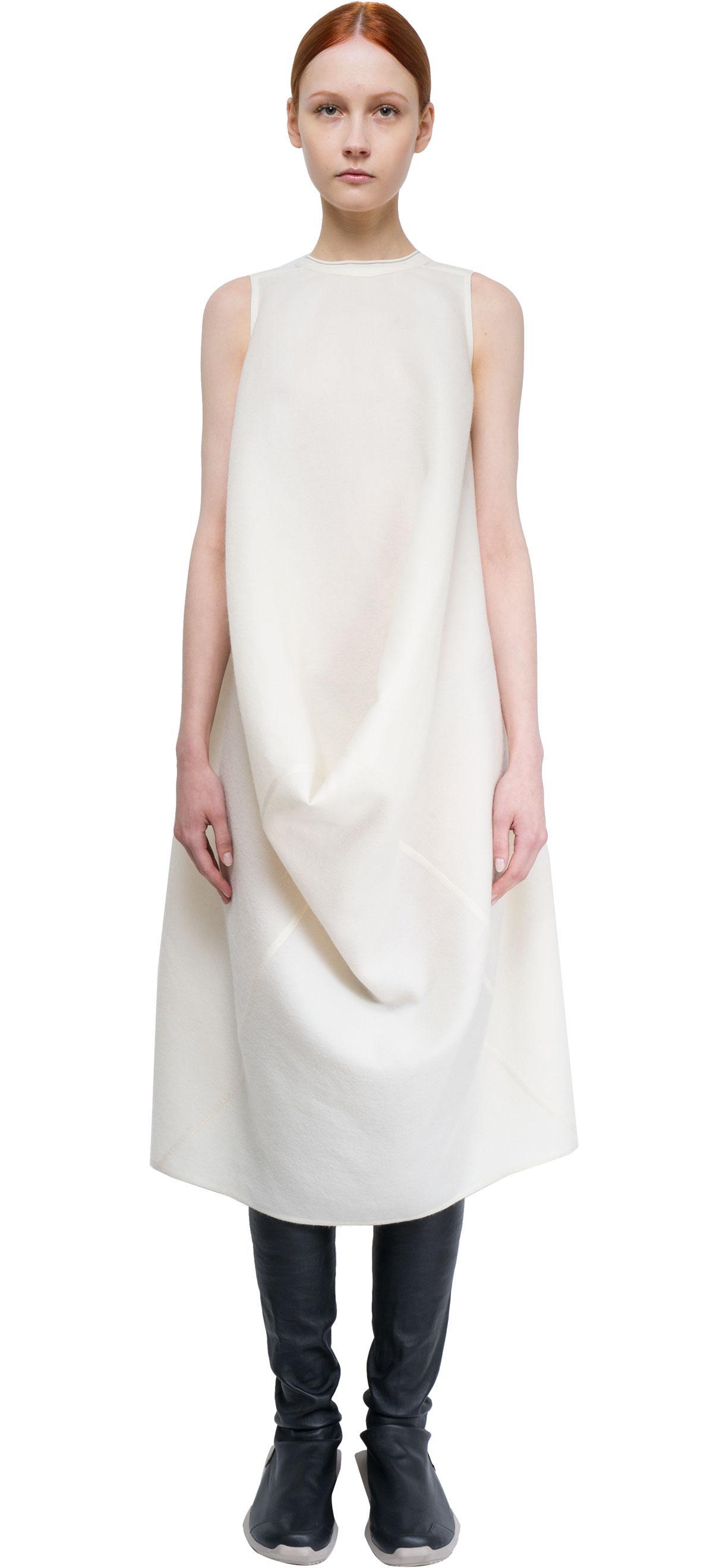 Lyst Rick Owens Silk And Wool Dress