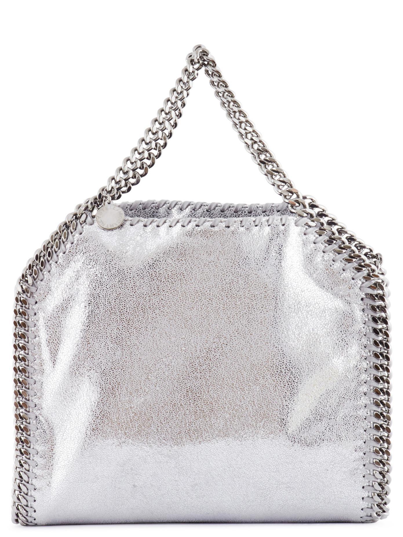 5b0565b0118c Lyst - Stella McCartney Shiny Dotted Chamois Mini Falabella Tote Bag ...