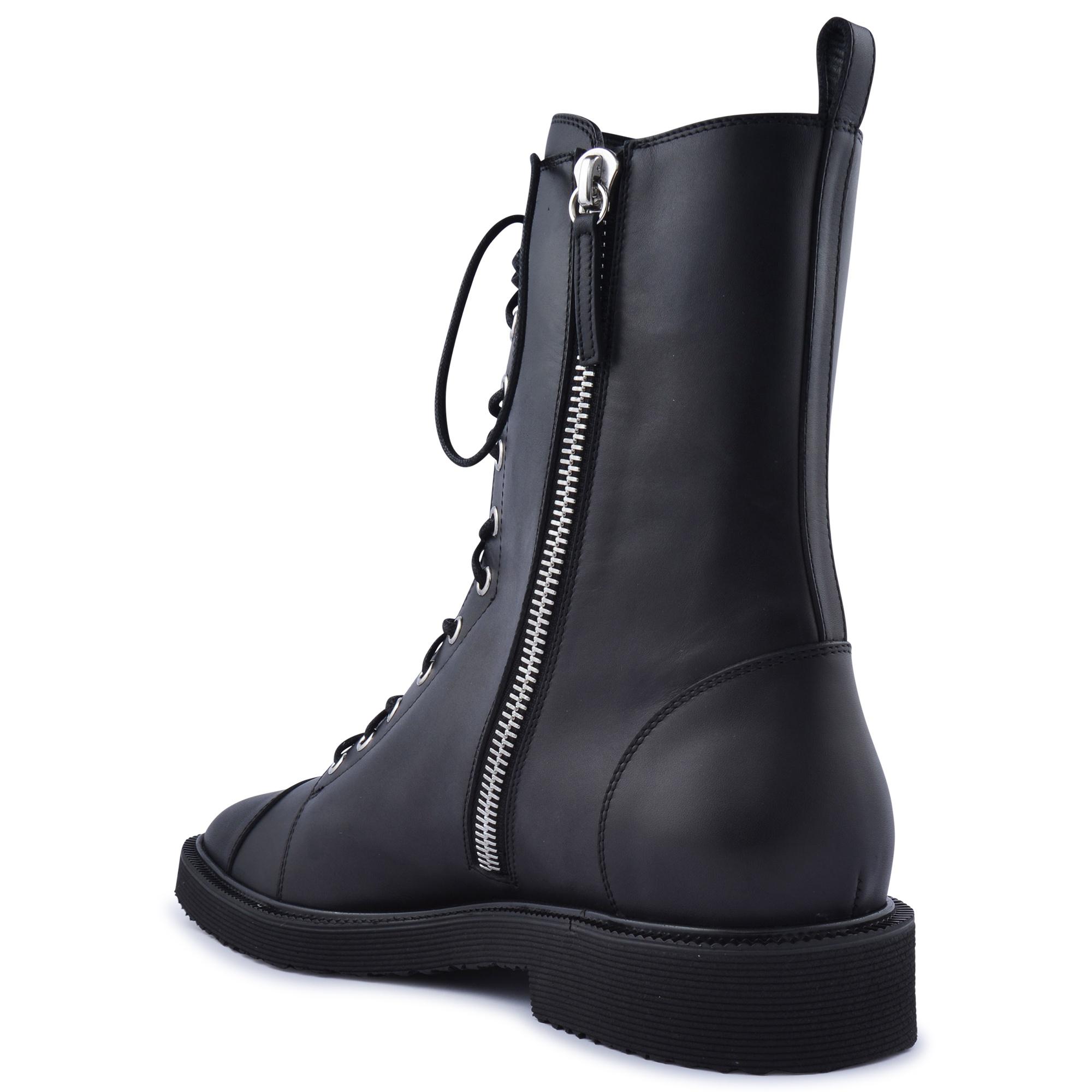 Lyst Giuseppe Zanotti Leather Boots In Black For Men