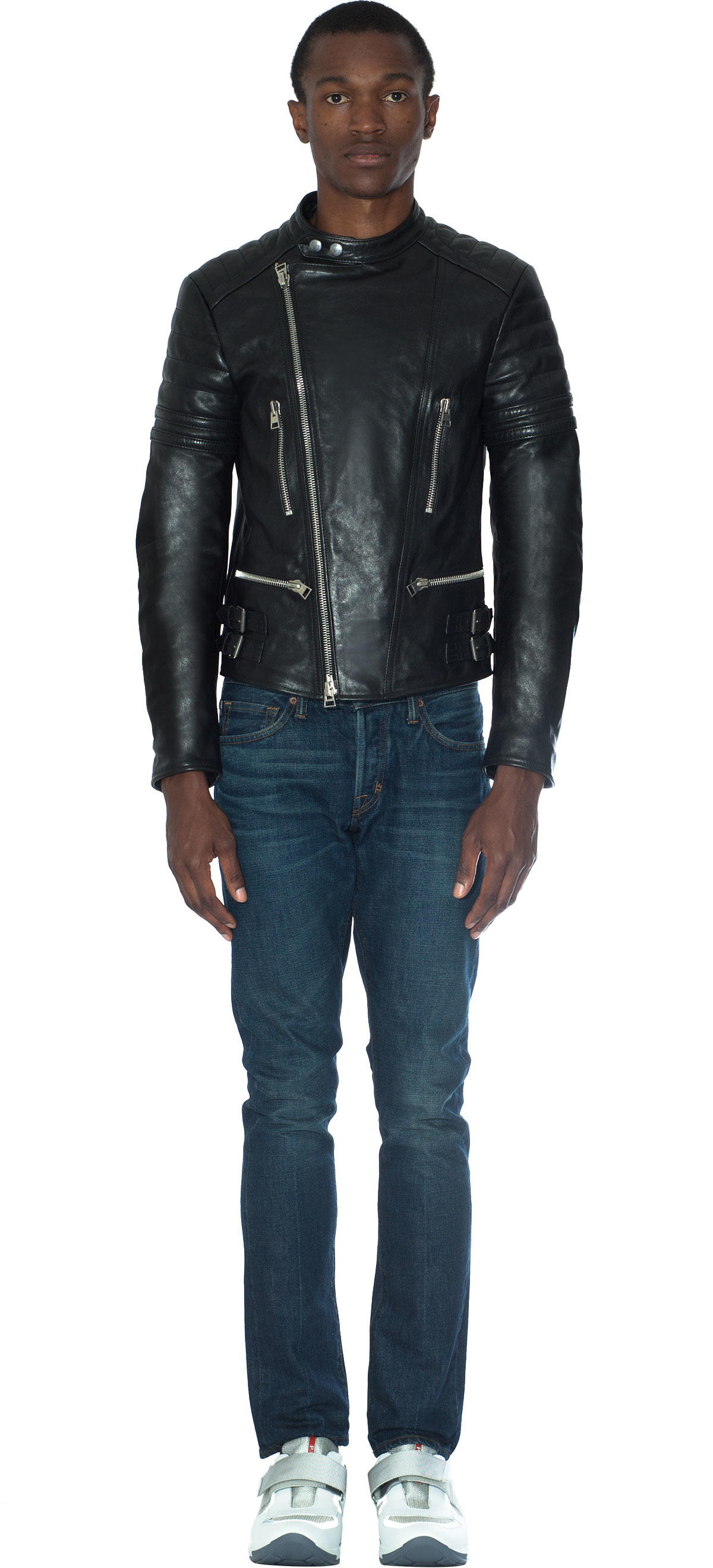 tom ford leather biker jacket for men lyst. Black Bedroom Furniture Sets. Home Design Ideas