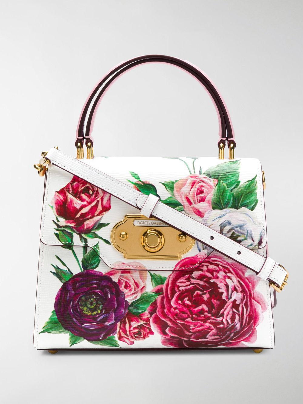 Estampado Tote Welcome Dolce Rose Gabbana zzvIqwWA