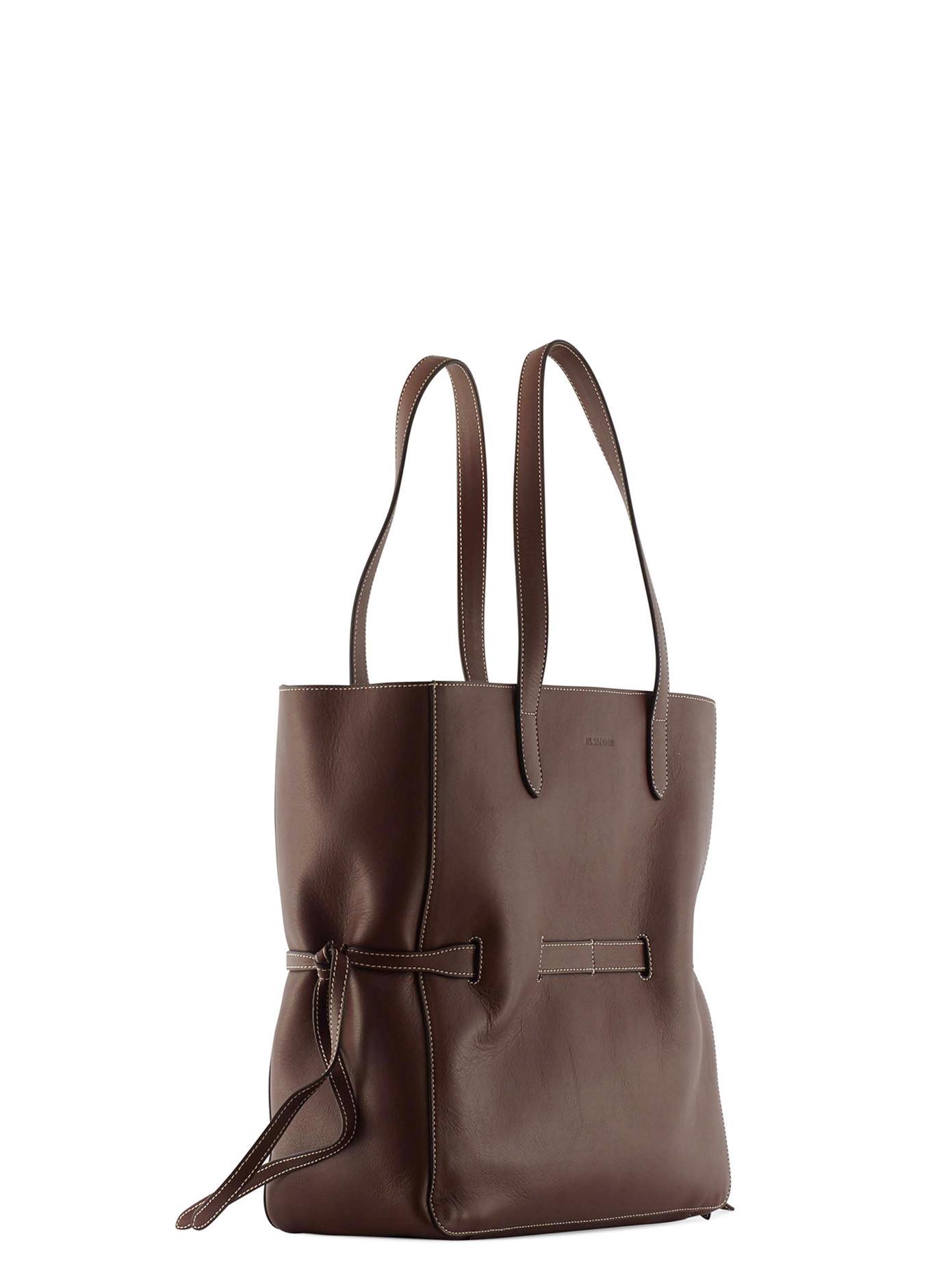 Jil sander Leather Tote in Brown