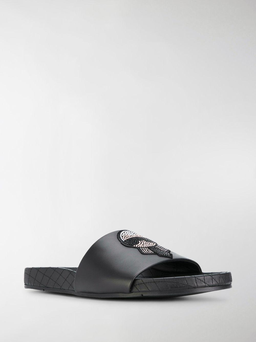 0bfb0efcf62b ... Fendi - Black Karlito Sliders for Men - Lyst. View fullscreen timeless  design 84c87 6d4b4 ...