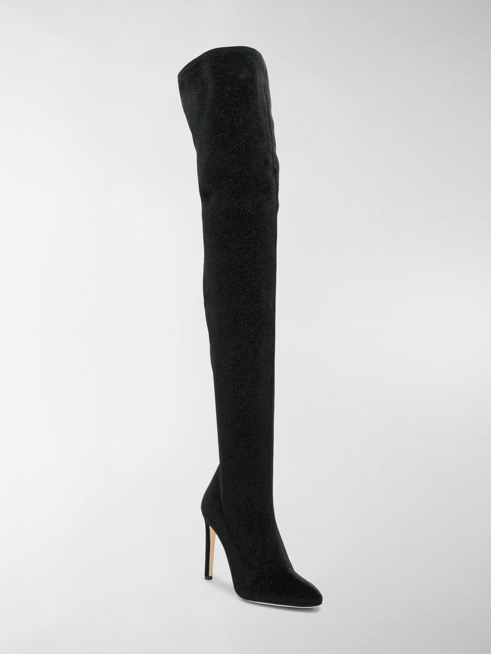 e3a2dcc33351 Giuseppe Zanotti Dena Thigh-high Boots in Black - Lyst