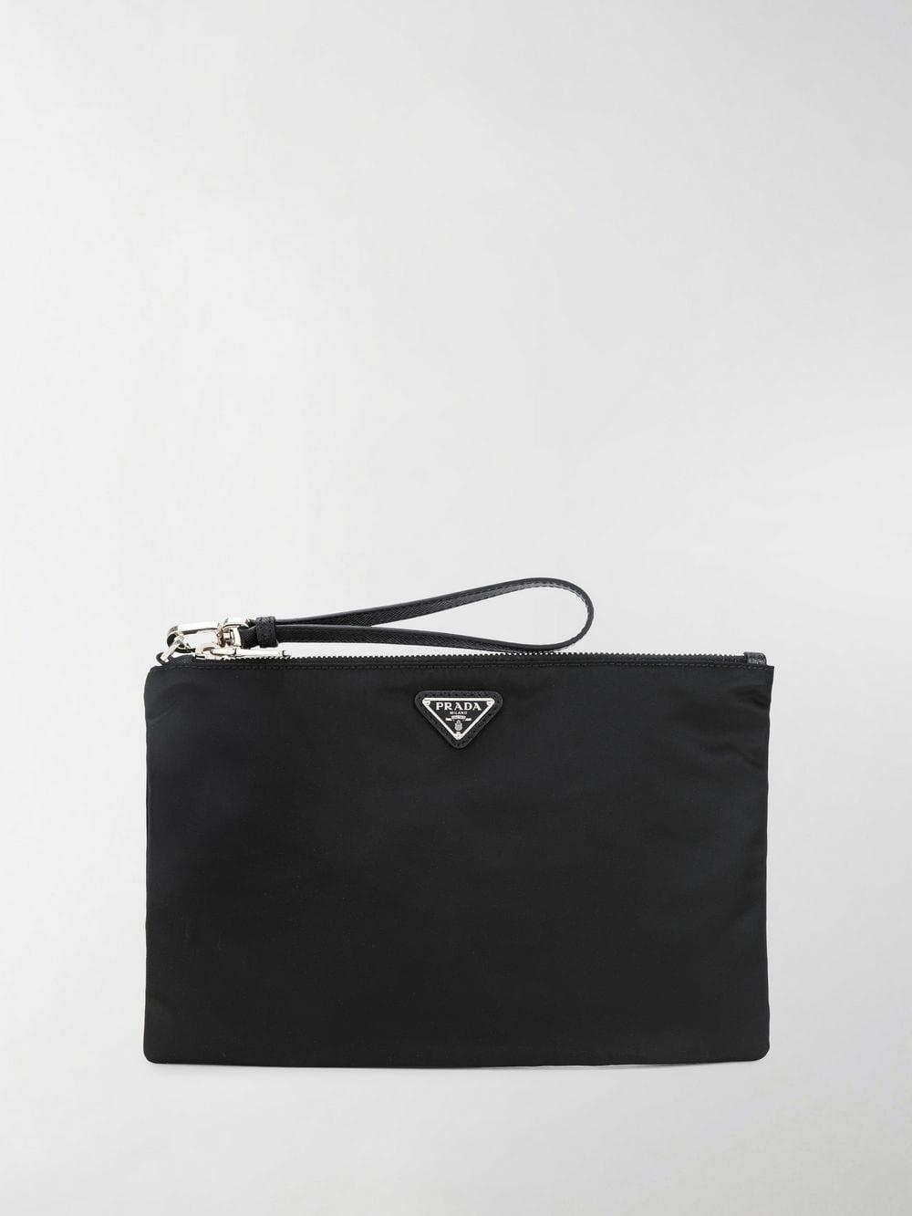 c3e3f529f651 Lyst - Prada Vela Clutch Bag in Black for Men