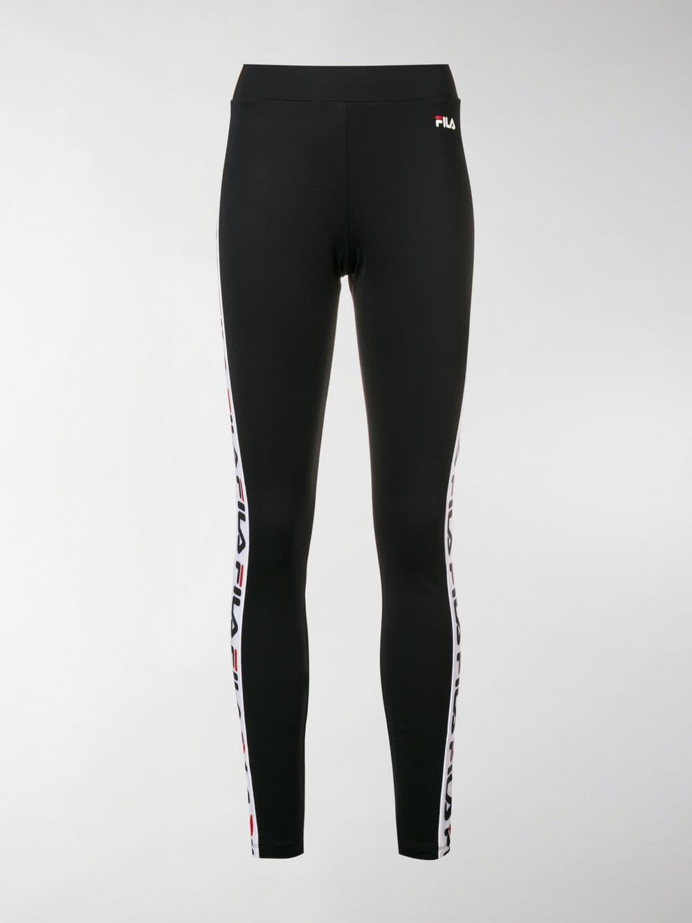 7e8452c6da196 Lyst - Fila Logo Side Stripe leggings in Black