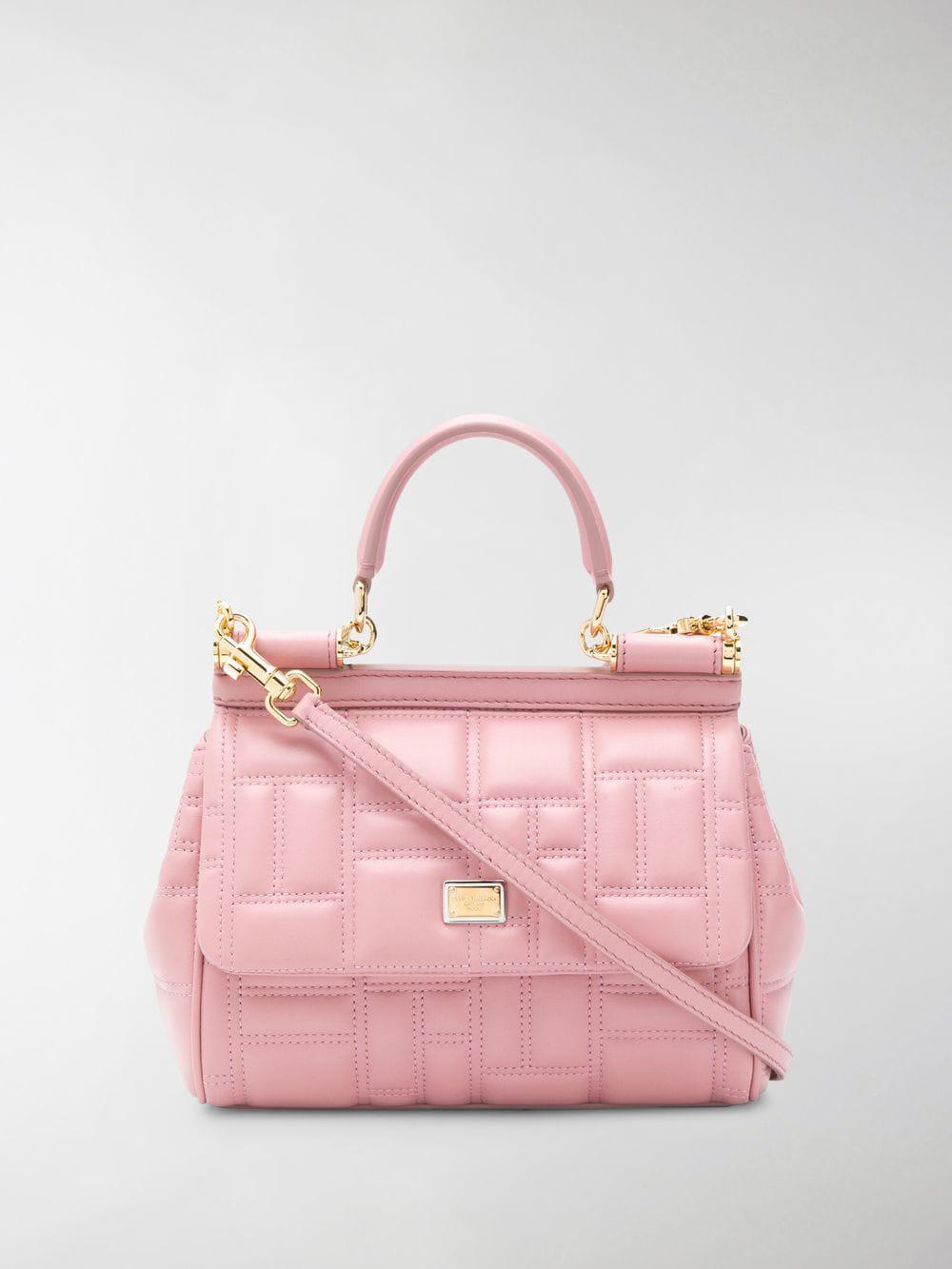 9fc4fcda53 Lyst - Dolce   Gabbana Sicily Tote Bag in Pink