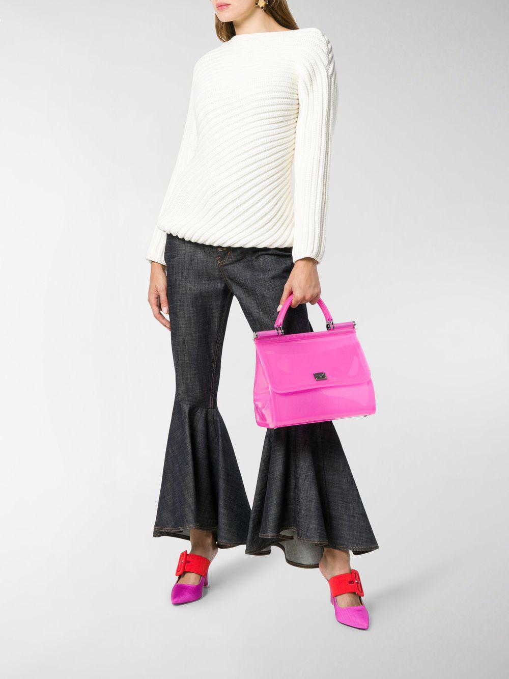 aa671a1f83d8 Dolce   Gabbana - Pink Sicily Transparent Pvc Shoulder Bag - Lyst. View  fullscreen