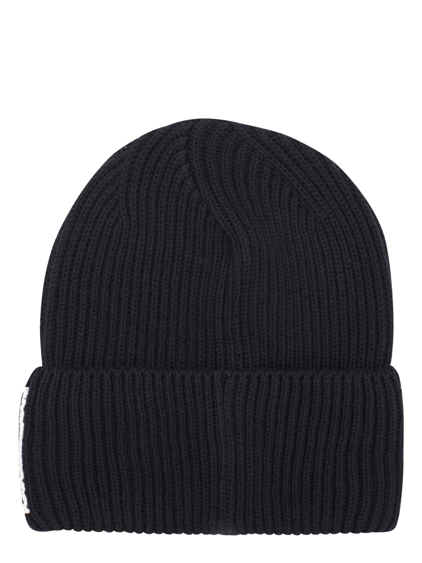 d47a68a9ff79b Lyst - Versace Loyalty Wool Beanie in Black
