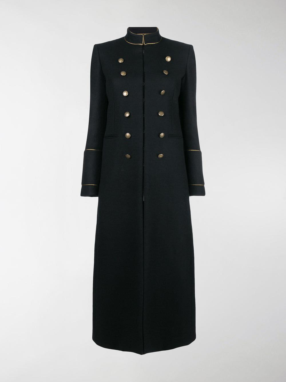 823ff873b4e Saint Laurent Military Coat in Black - Lyst