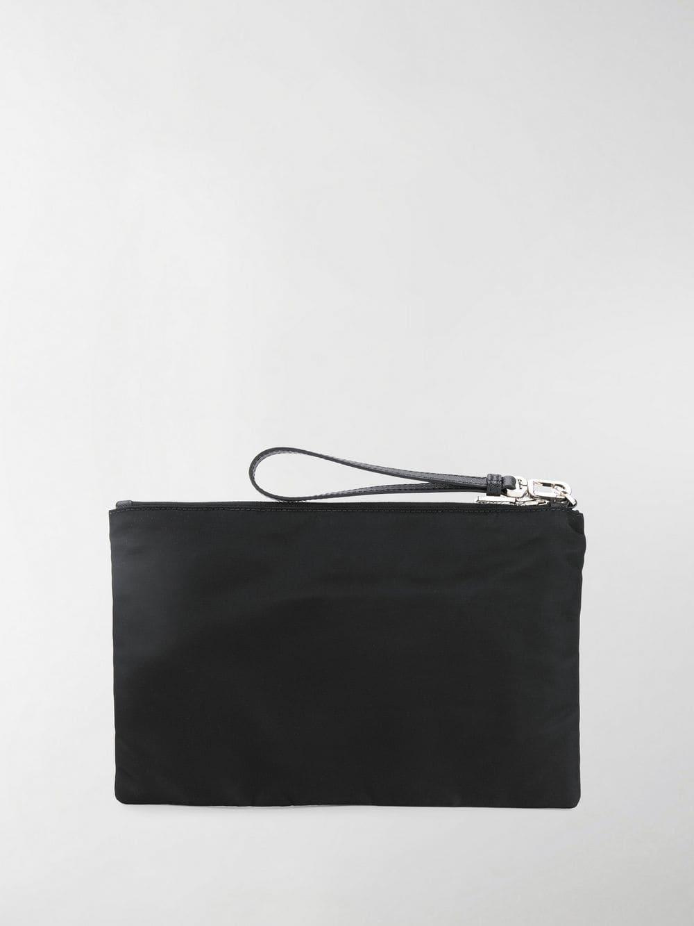 Lyst - Prada Vela Clutch Bag in Black for Men 3f01f3b2c1890