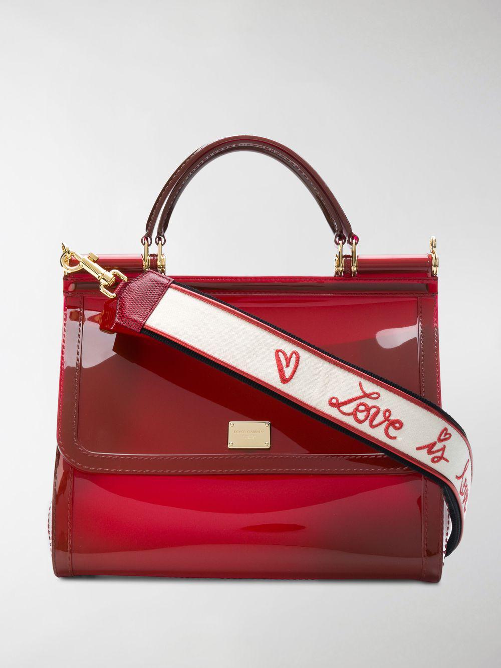 e5d28dd434 Dolce   Gabbana Sicily Shoulder Bag in Red - Lyst