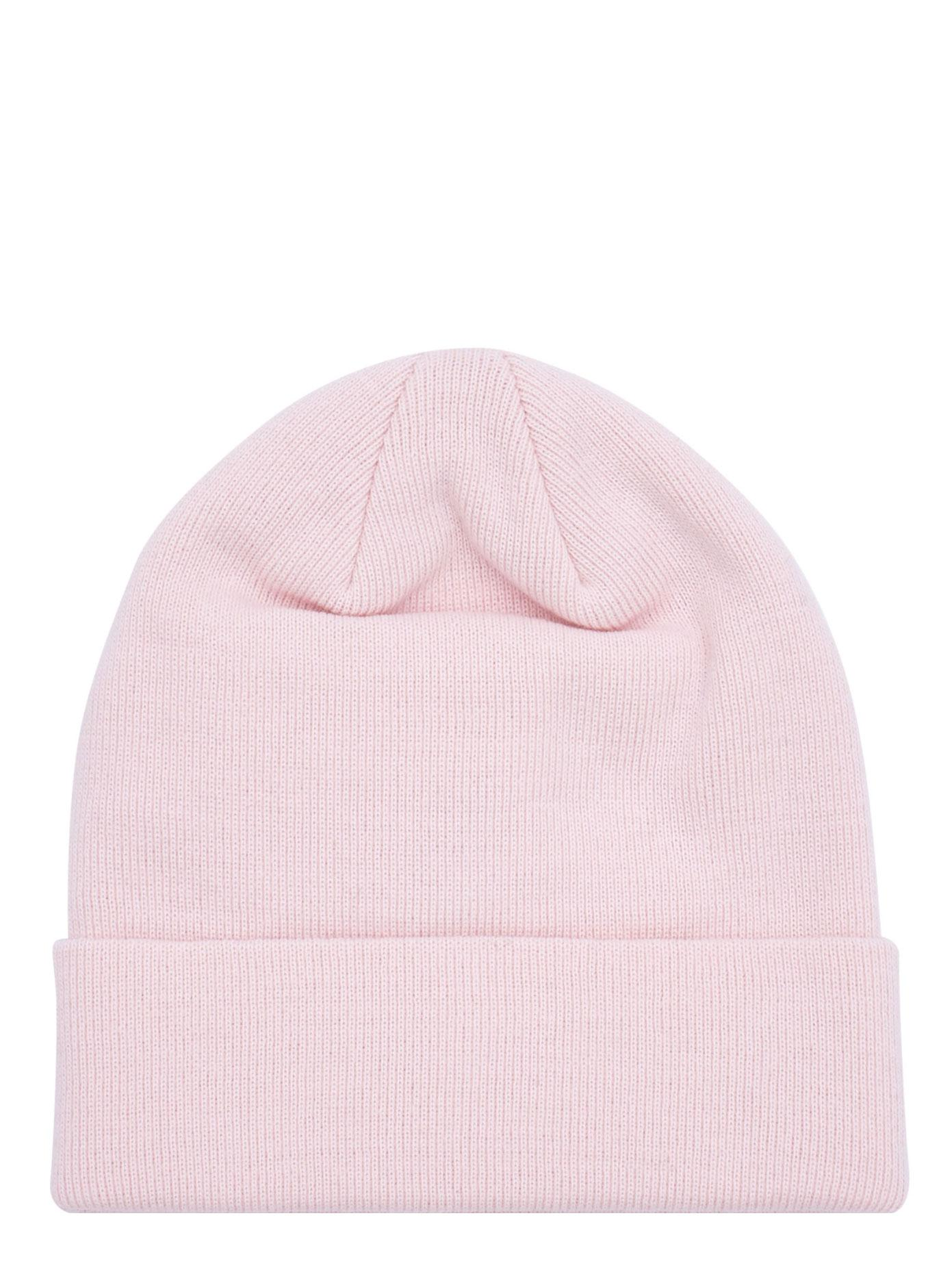 45b85a5395b Lyst - Givenchy Logo Leather Patch Beanie in Pink