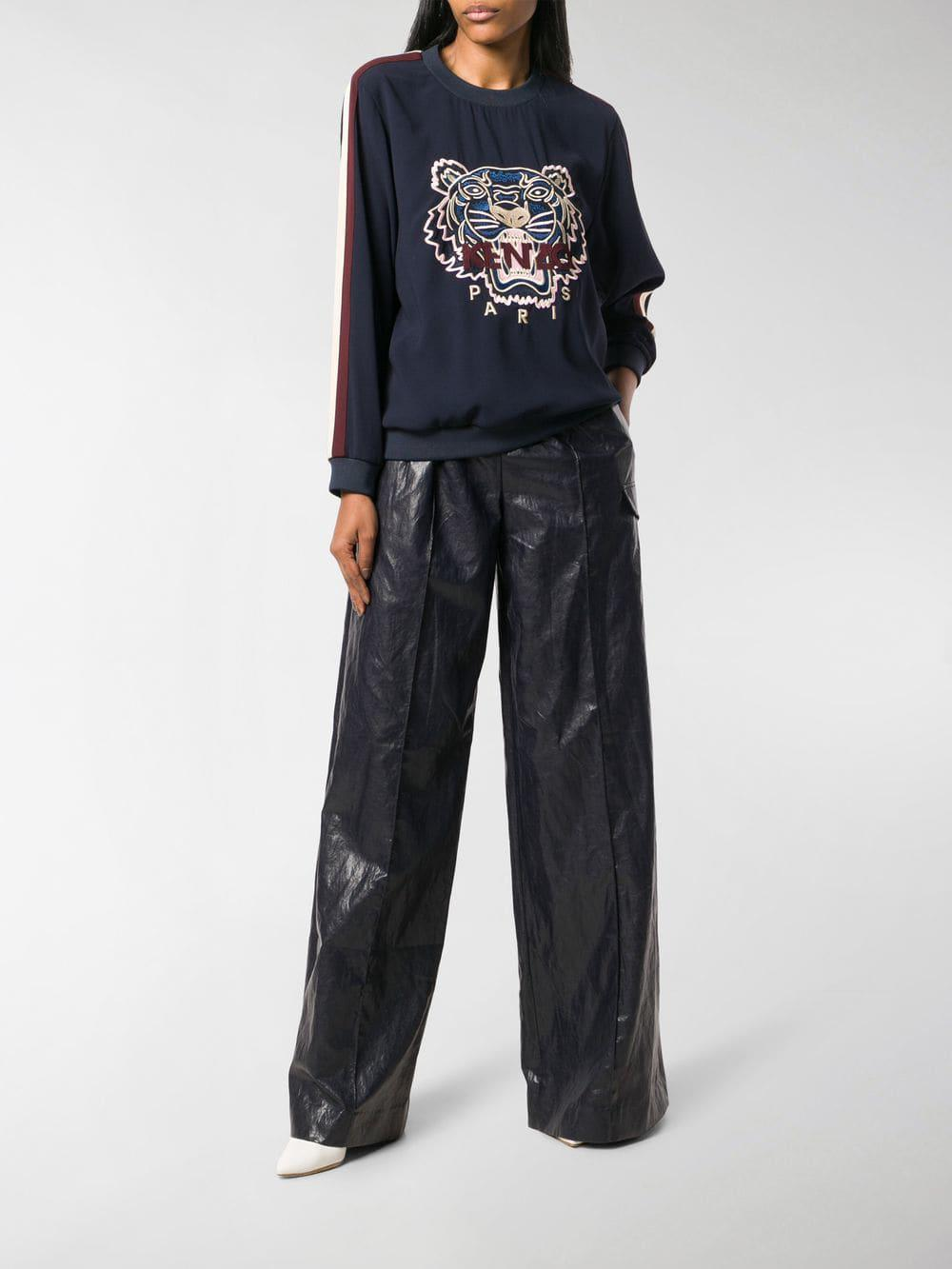 73925a1d1e08 KENZO Tiger Sweatshirt in Blue - Save 50.0% - Lyst