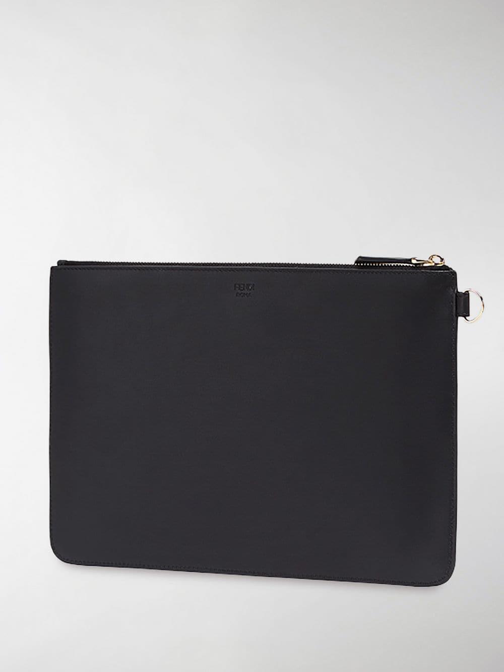 f22d9164f690 Fendi - Black Bag Bug Pouch for Men - Lyst. View fullscreen
