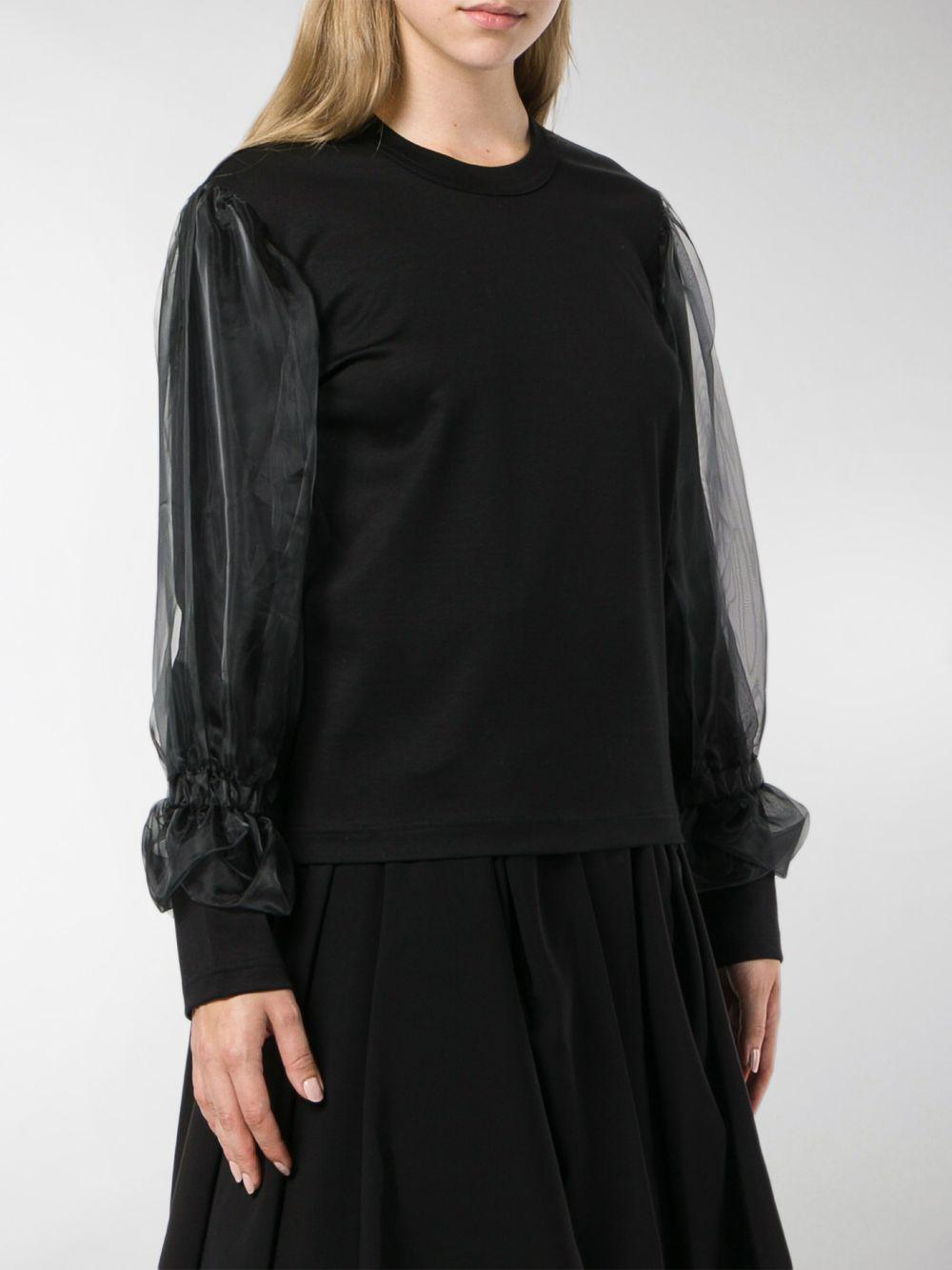 Sweater Comme Garçons Black Des Lyst Tulle Insert In SZCxqP