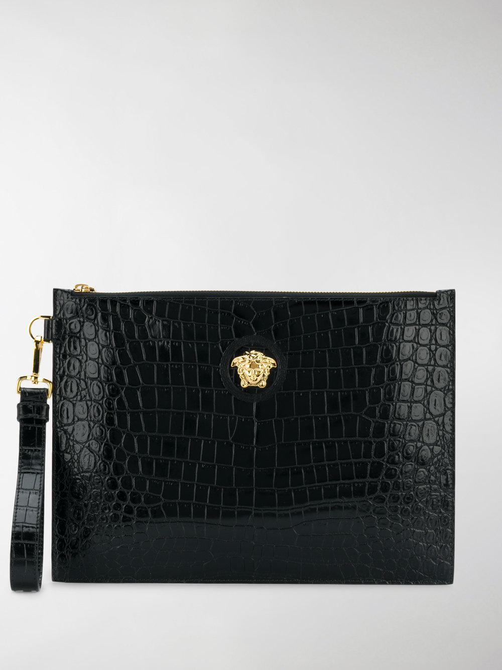 af8cff8fb132 Lyst - Versace Medusa Clutch Bag in Black for Men - Save ...