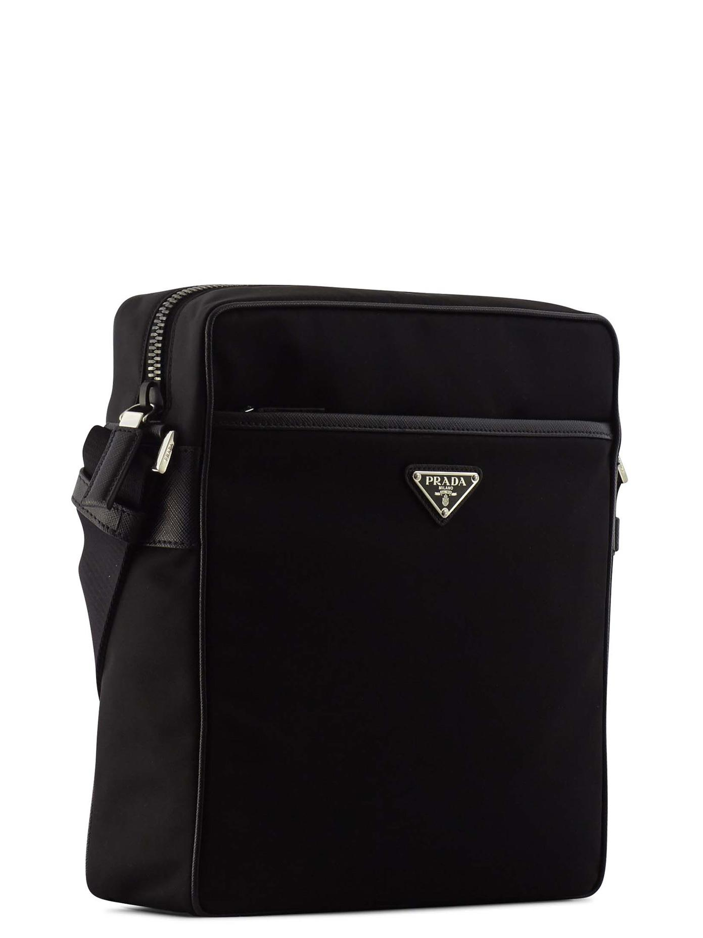 06a06cfff56b Prada Nylon Crossbody Bag in Black for Men - Lyst