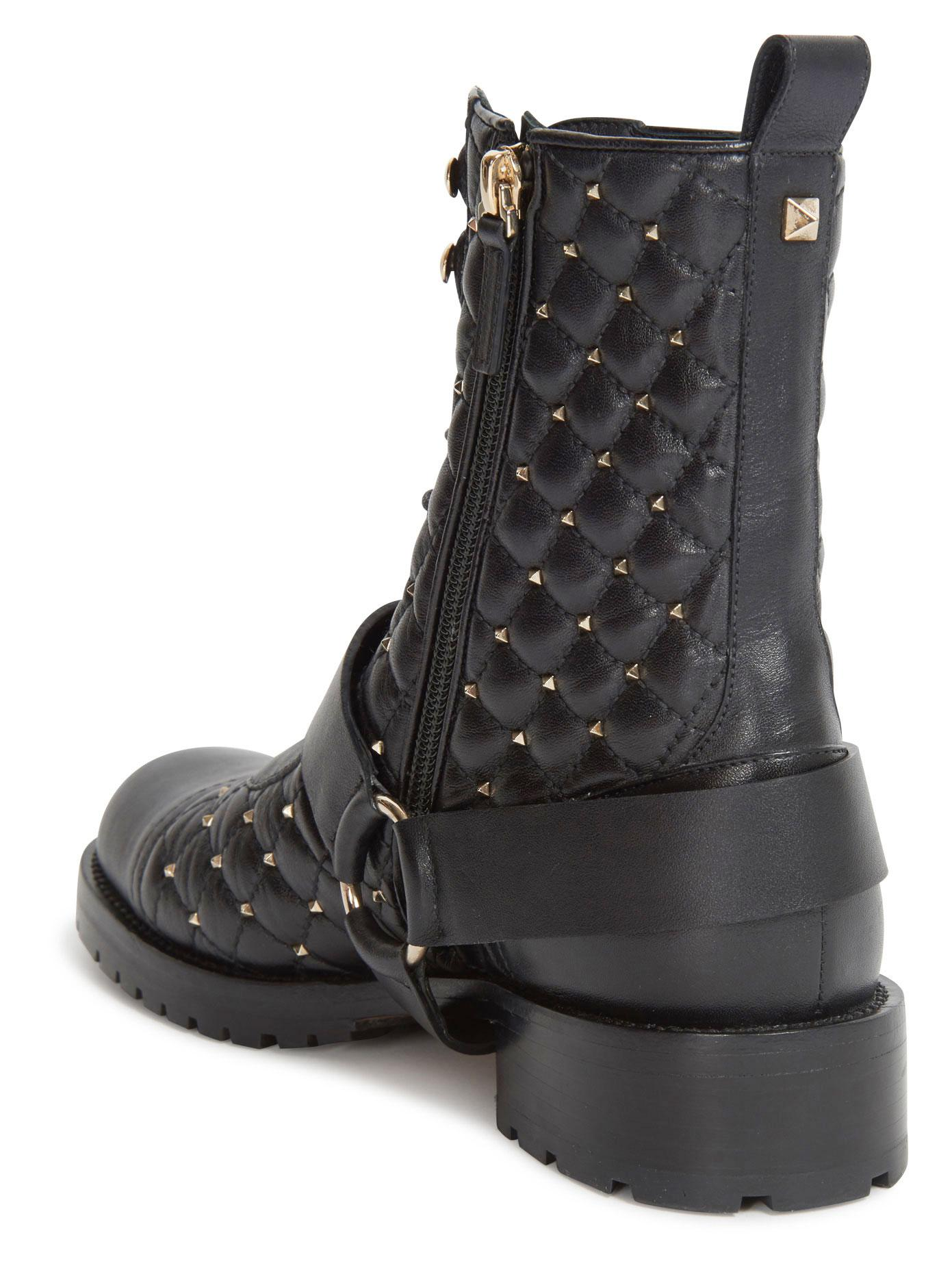 Valentino Rockstud Quilted Leather boots