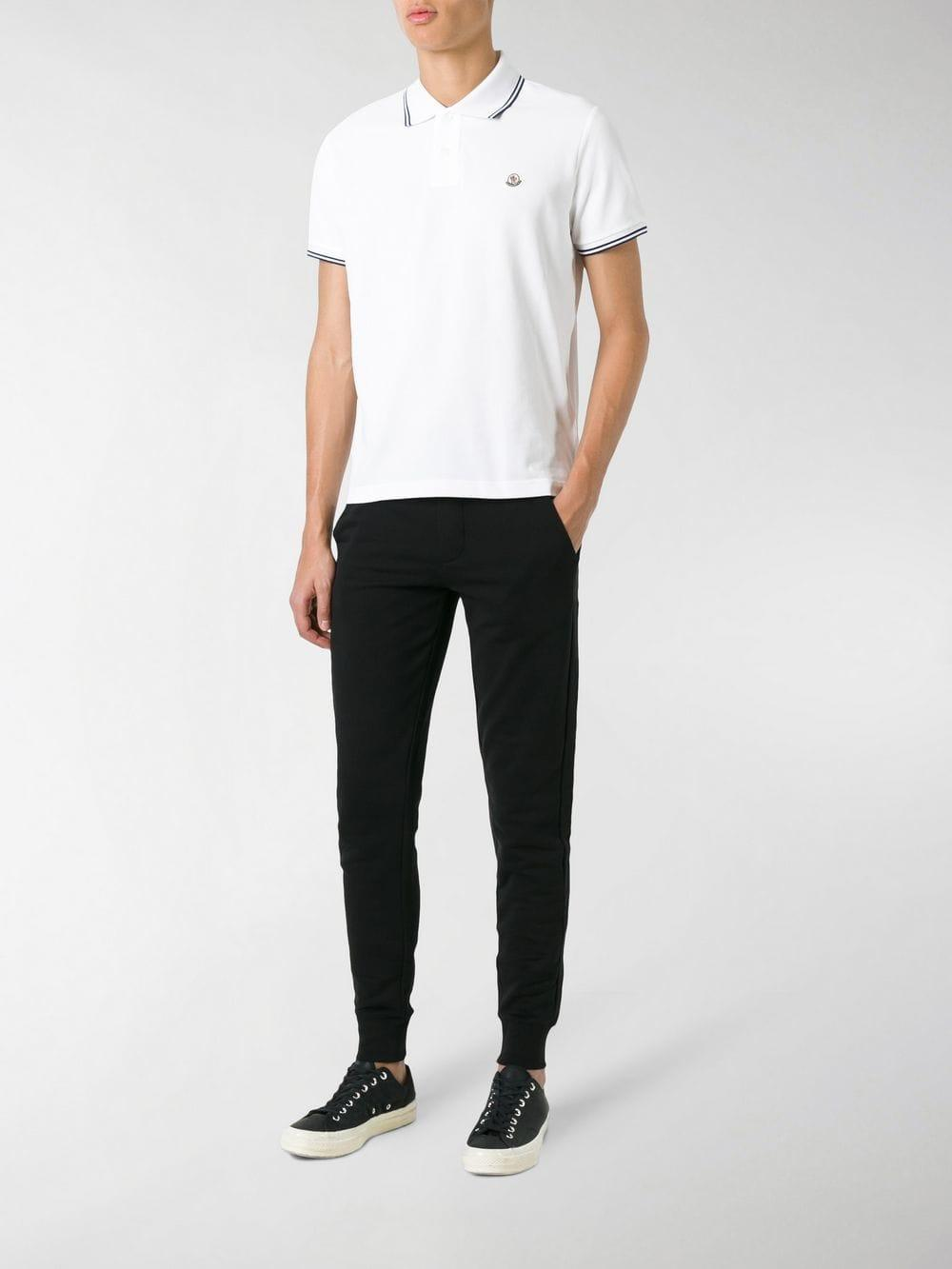 c7aff48b0a00 Lyst - Moncler Short Sleeve Polo Shirt in White for Men