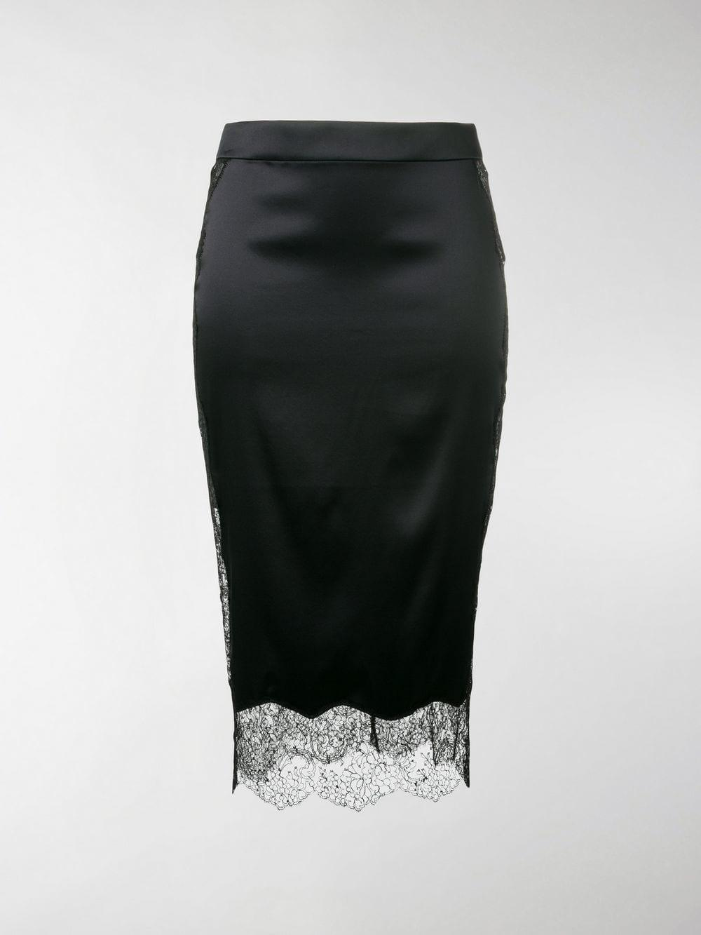 1794d184d Lyst - Tom Ford Lace Trim Pencil Skirt in Black