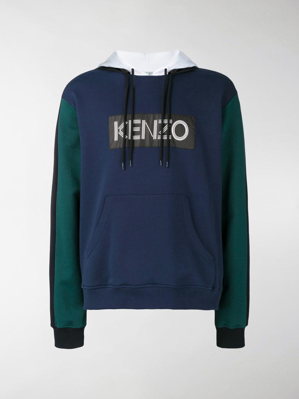 78995d41acc6 KENZO - Blue Logo Hoodie for Men - Lyst. View fullscreen