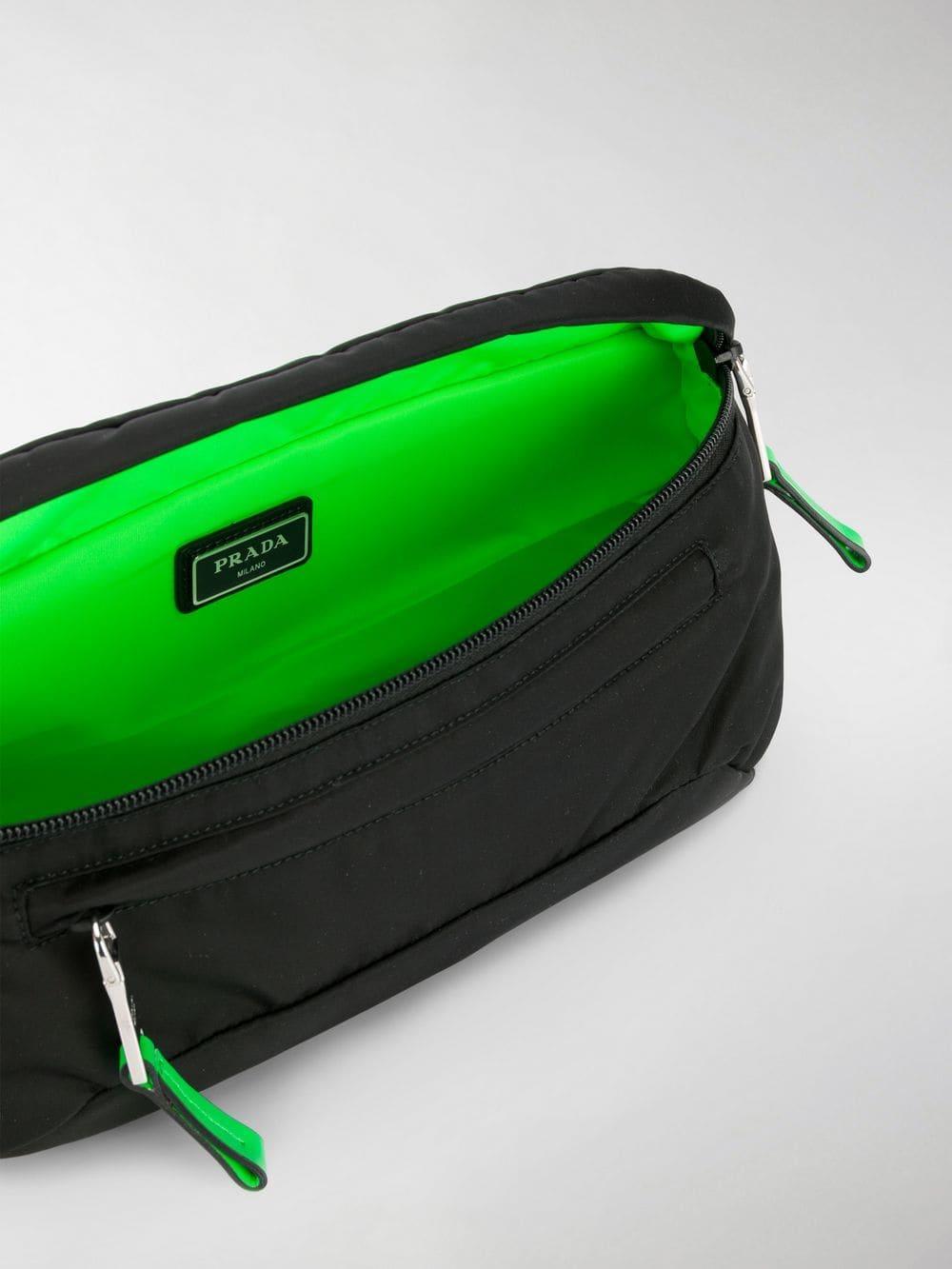 866ca08d97 Lyst - Prada Technical Fabric Belt Bag in Black for Men