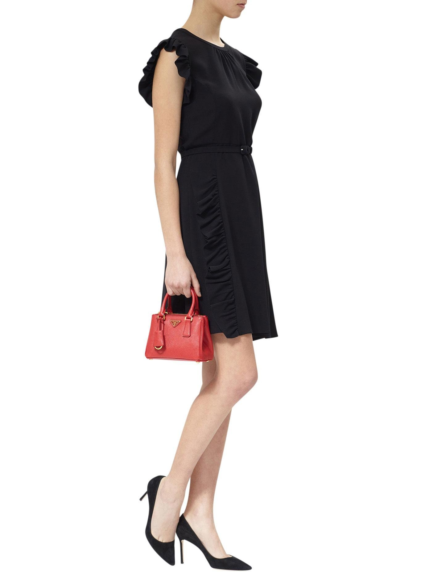 307903bc1b38 ... coupon code lyst prada galleria mini saffiano leather bag in red 41f1d  269be ...