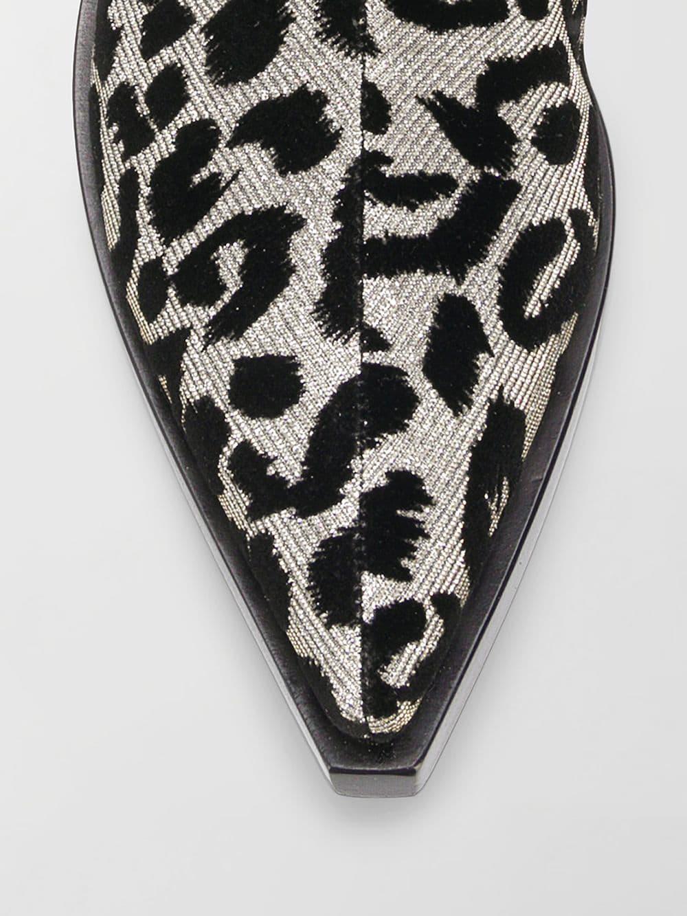 e19427906cf7 Lyst - Dolce & Gabbana Texan 40 Leopard Cowboy Boots in Metallic ...