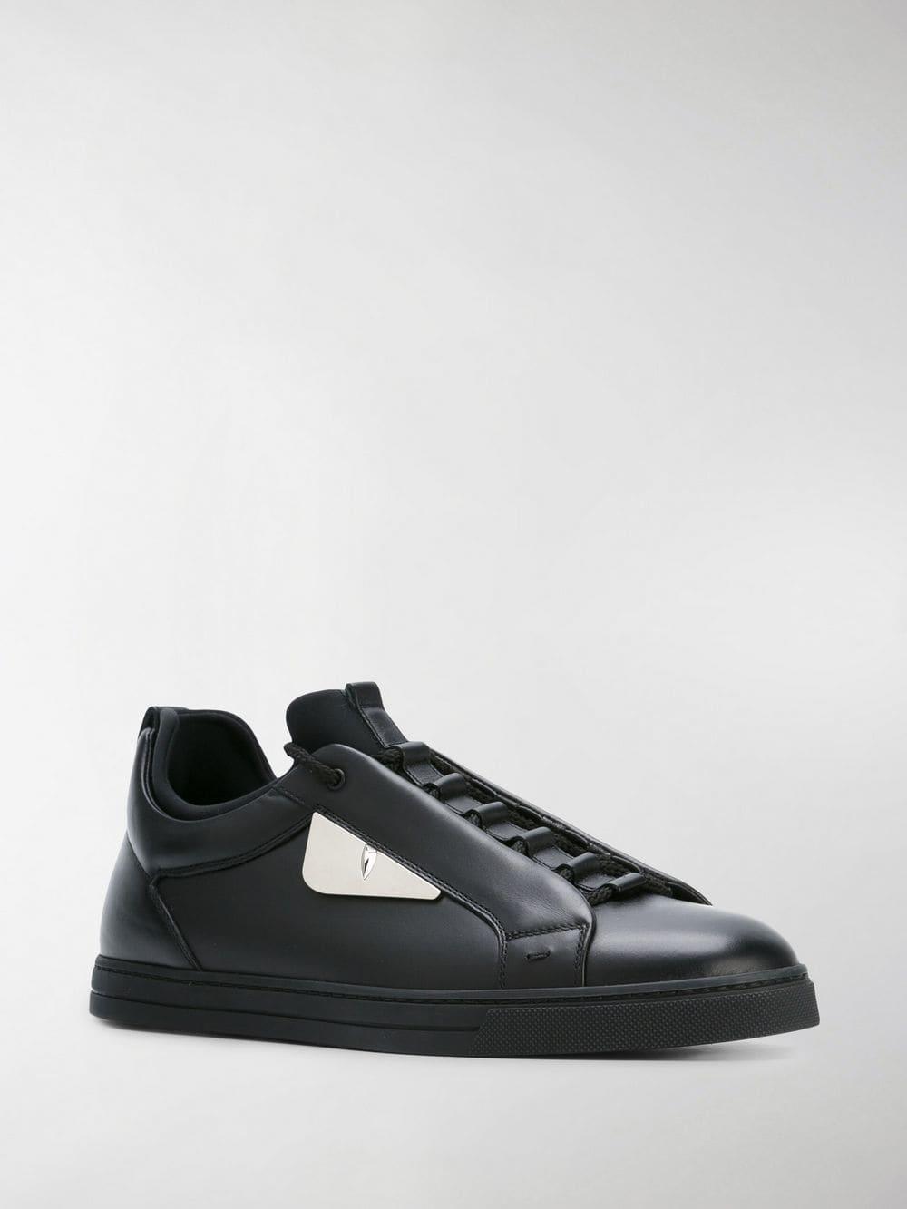 9ac0713218a7 Fendi Bag Bugs Sneakers in Black for Men - Lyst